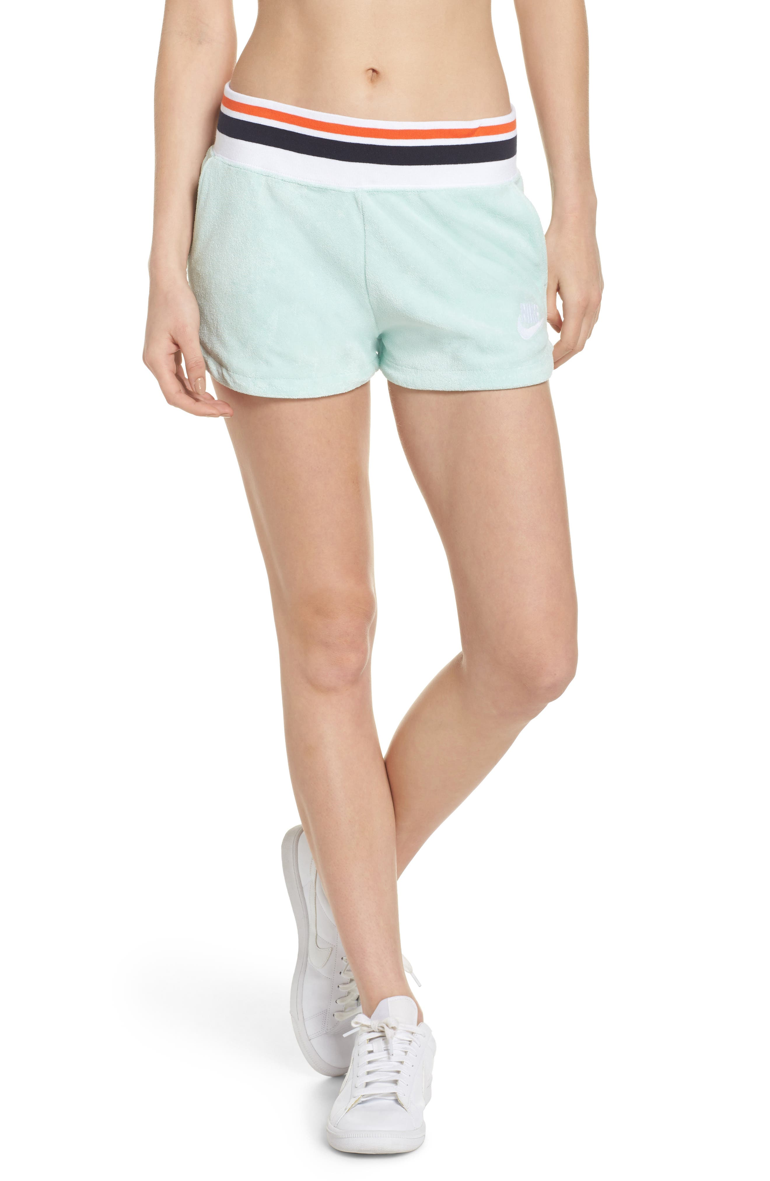 NIKE,                             Sportswear Terry Shorts,                             Main thumbnail 1, color,                             401