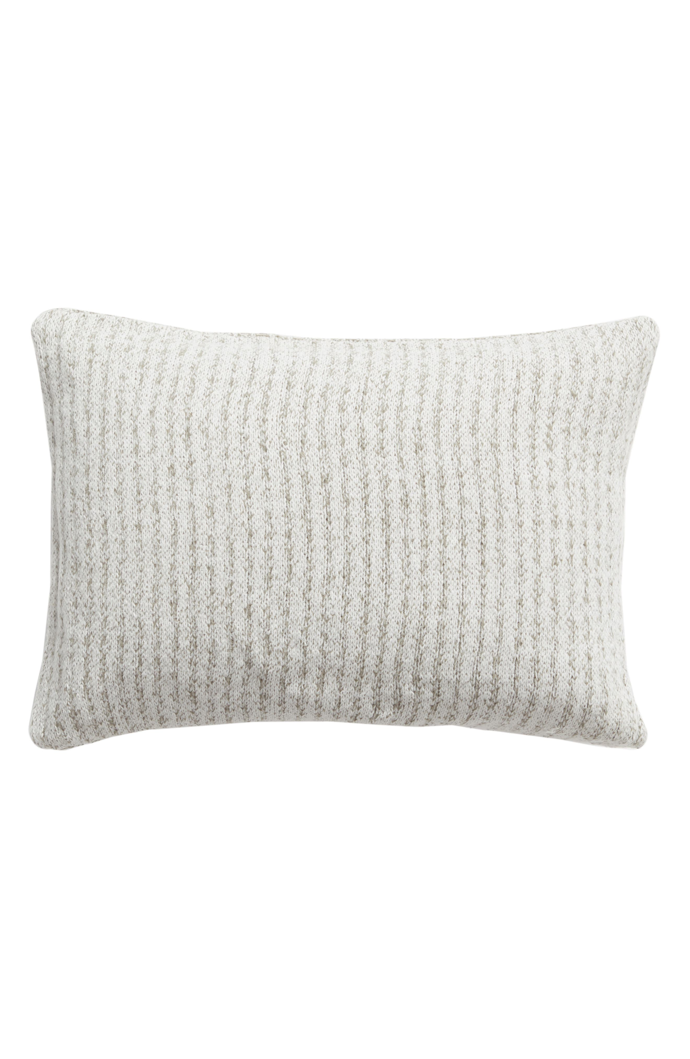 Soft Waffle Grid Accent Pillow,                             Alternate thumbnail 2, color,                             GREY WEATHER MULTI