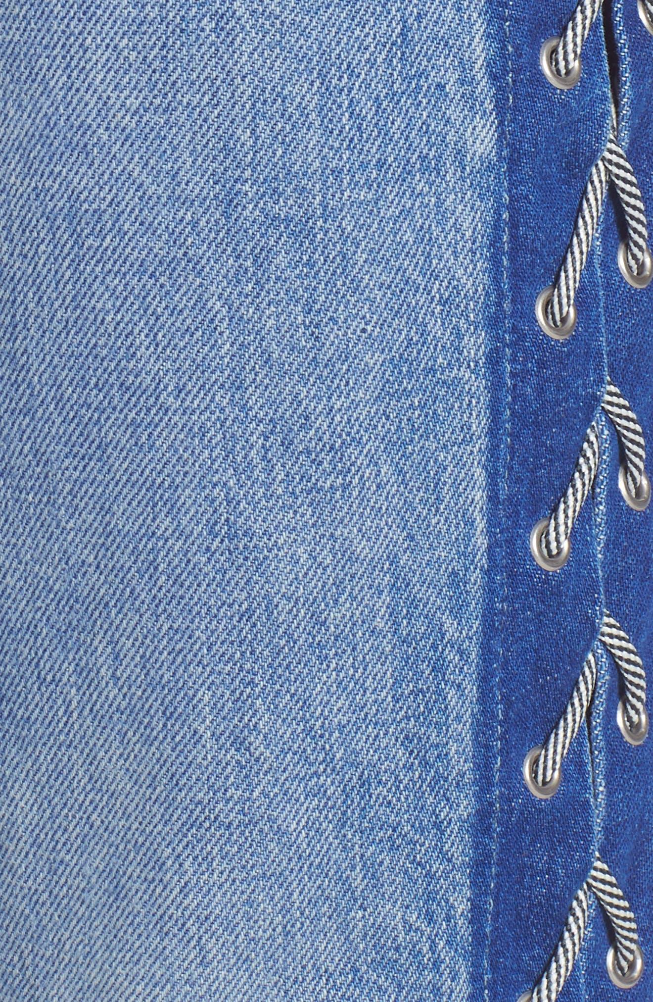 Zoeey High Waist Crop Straight Leg Jeans,                             Alternate thumbnail 6, color,                             460