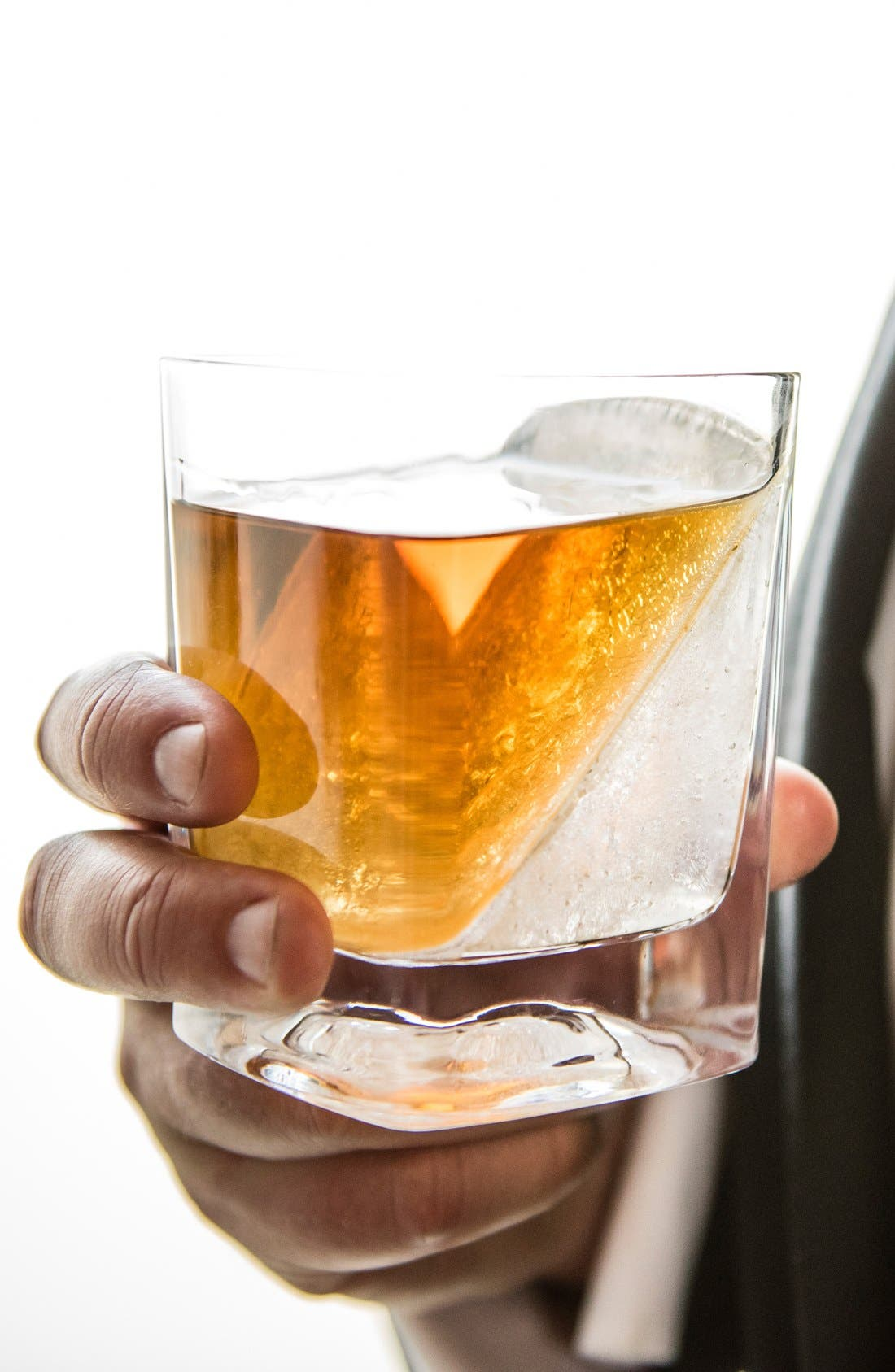'Whiskey Wedge' Double Old-Fashioned Glass,                             Alternate thumbnail 4, color,
