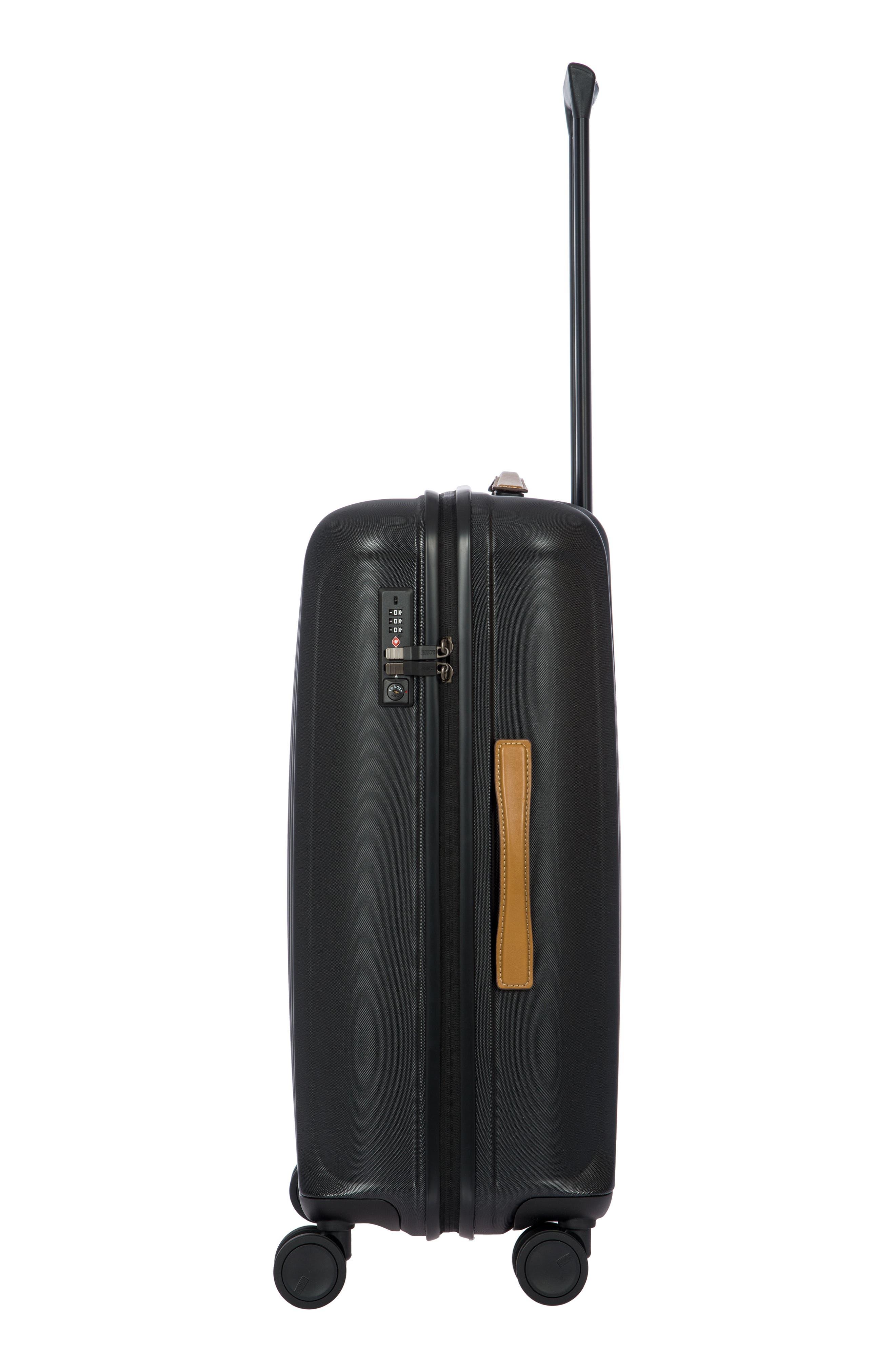 Capri 27-Inch Rolling Suitcase,                             Alternate thumbnail 3, color,                             MATTE BLACK