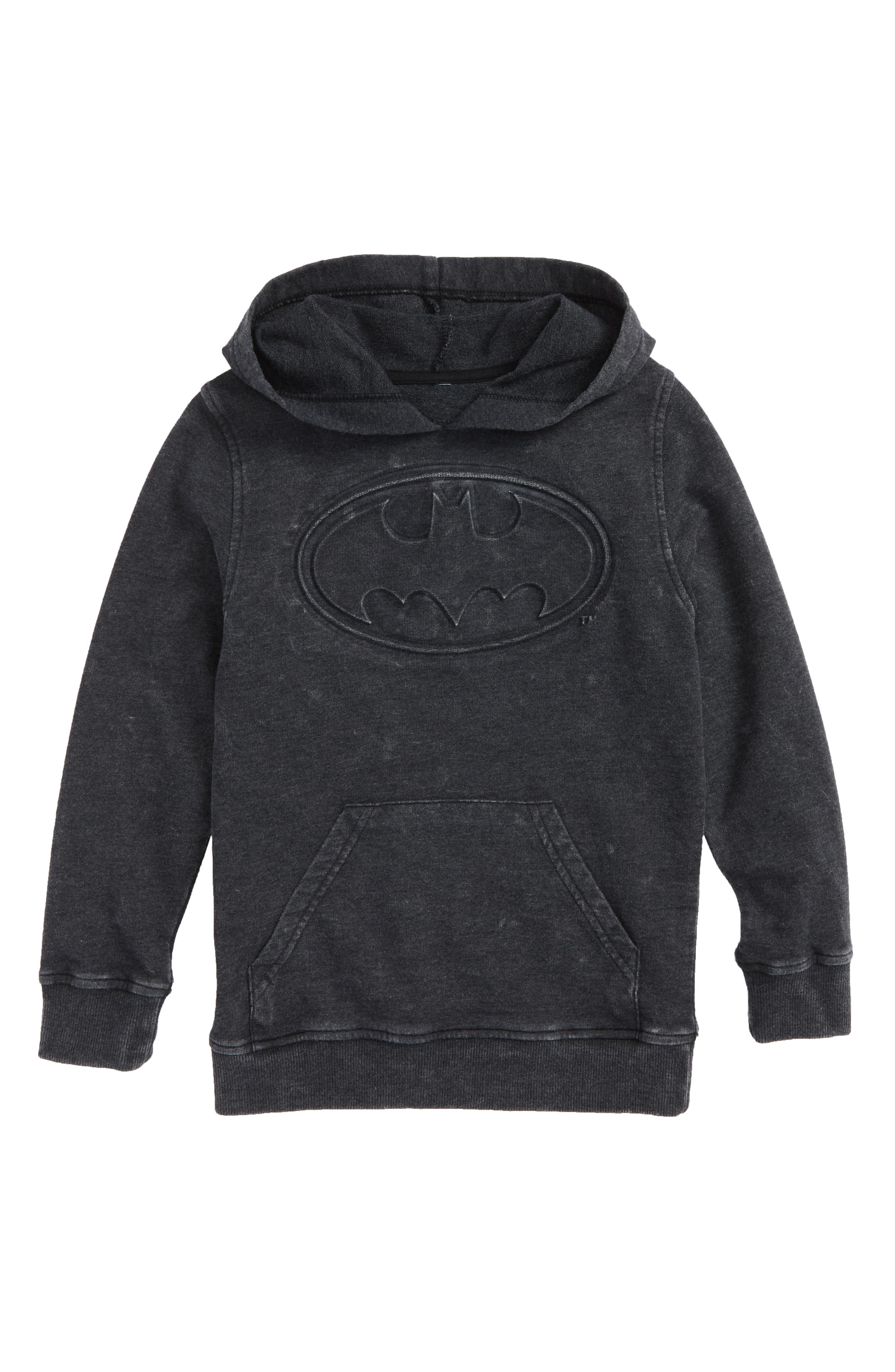 Batman Embossed Fleece Hoodie,                             Main thumbnail 1, color,                             001