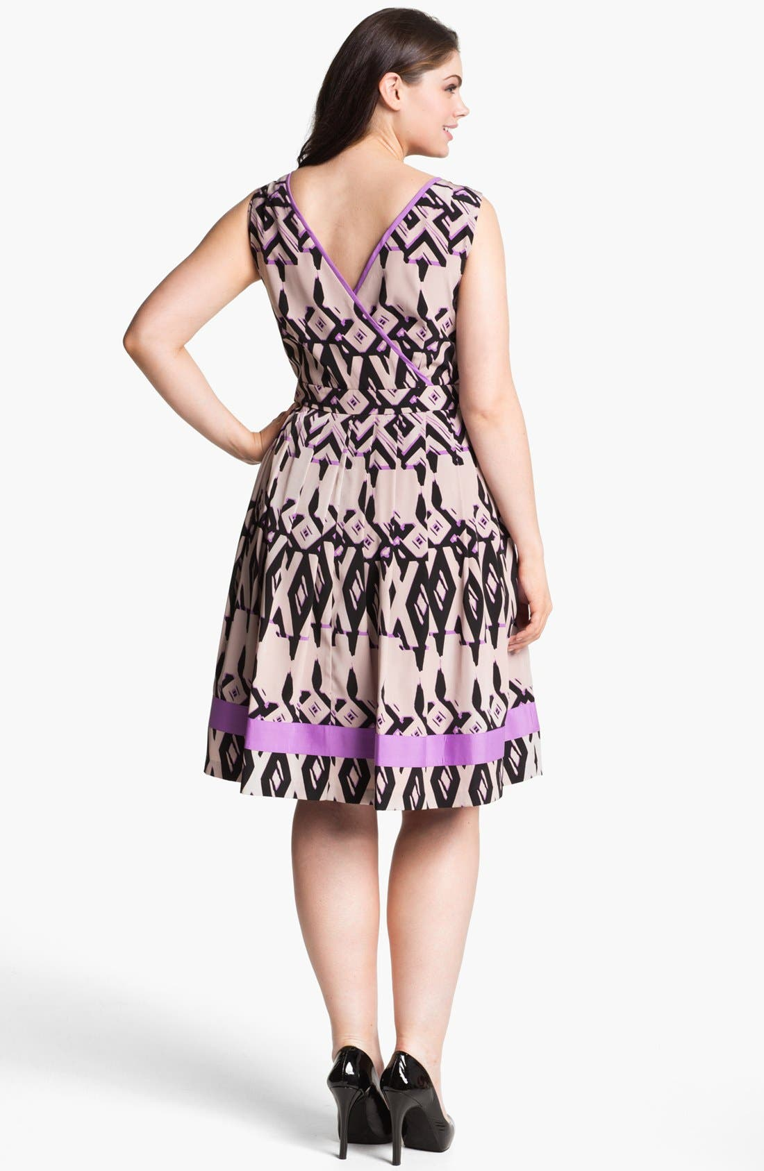 Fit & Flare Dress,                             Alternate thumbnail 3, color,                             510