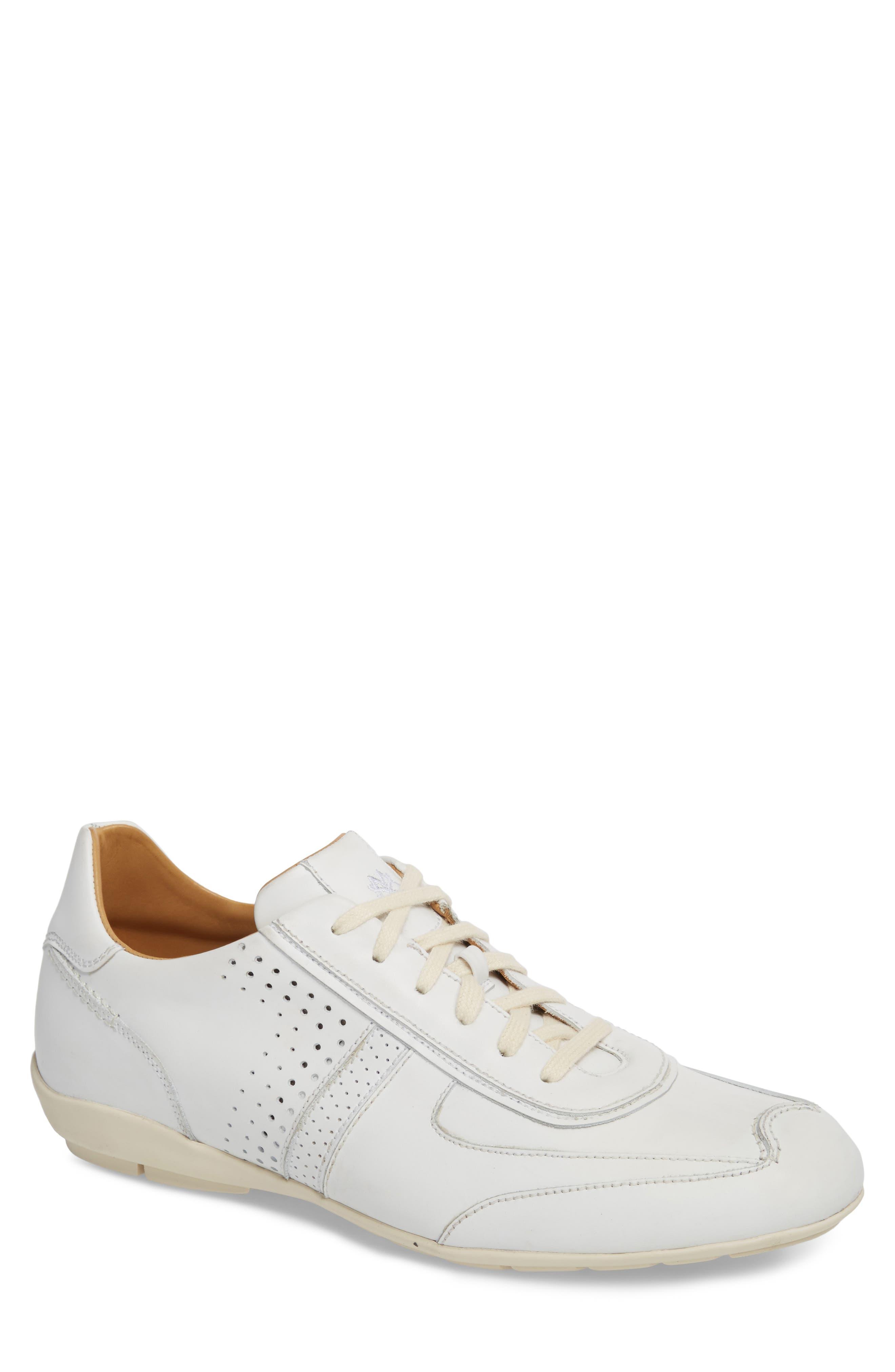 Lozano II Low Top Sneaker,                         Main,                         color, WHITE LEATHER