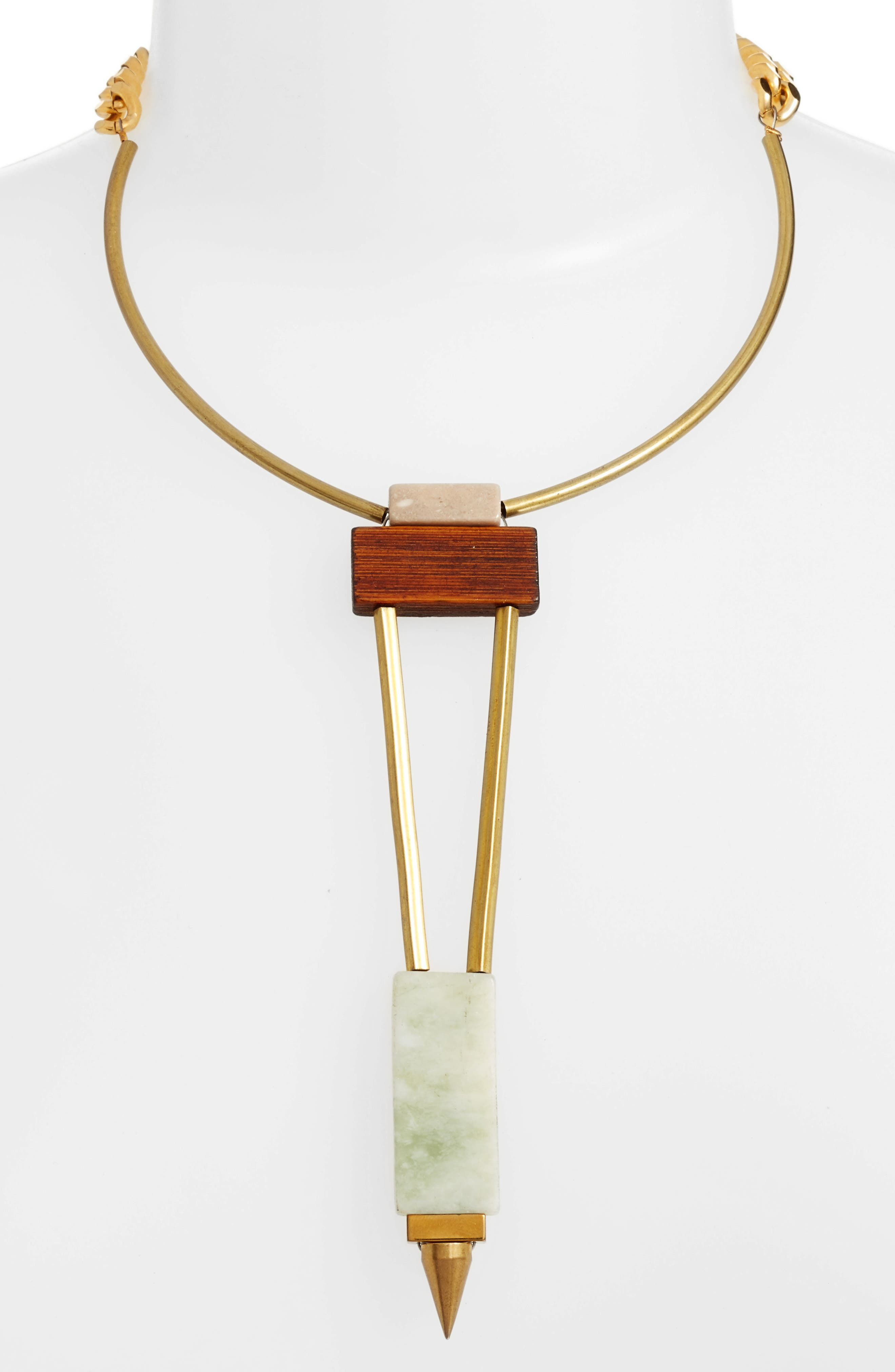 Odele Wood Statement Necklace,                             Alternate thumbnail 2, color,                             300