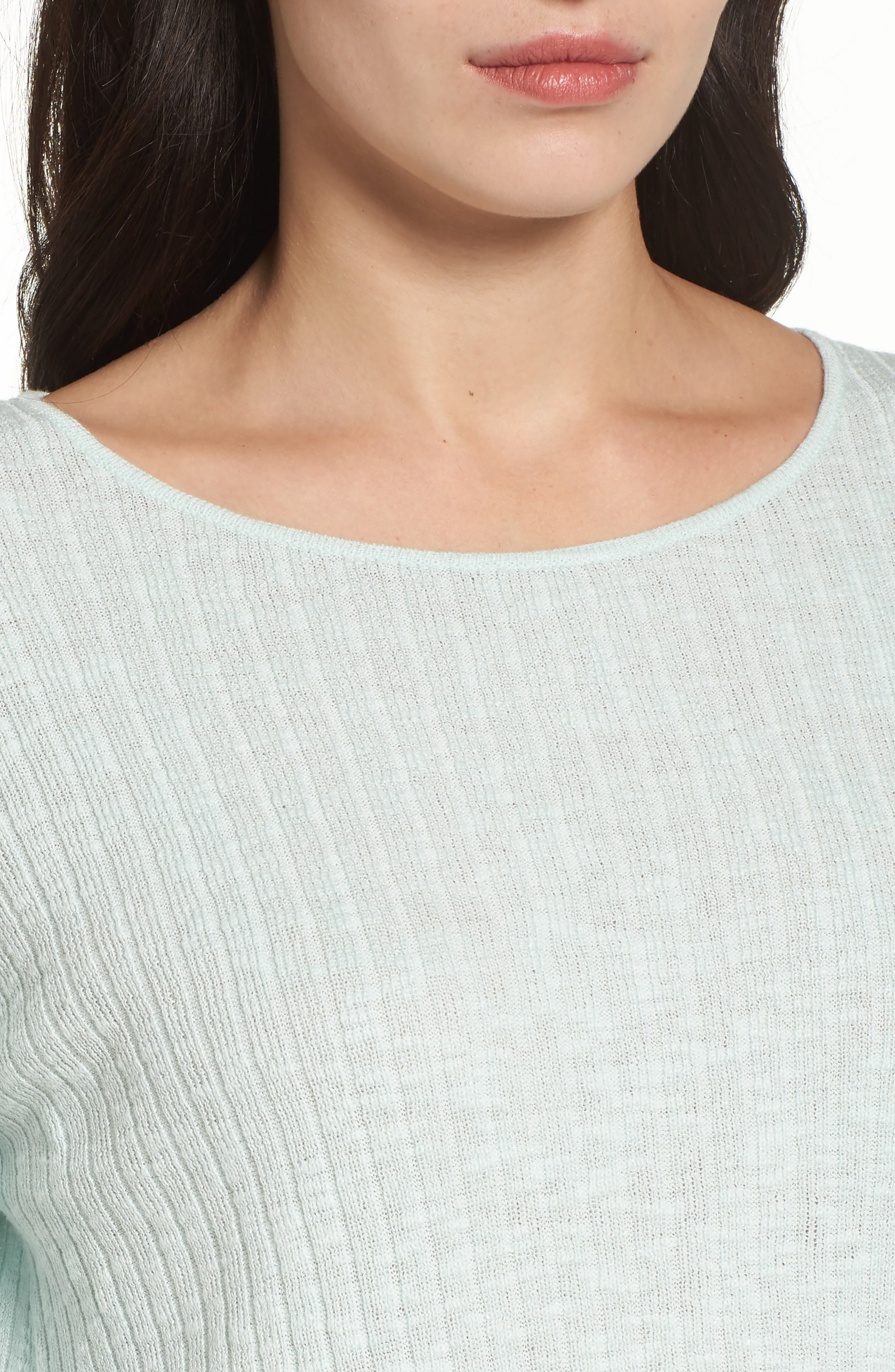 Ribbed Organic Linen & Cotton Sweater,                             Alternate thumbnail 7, color,