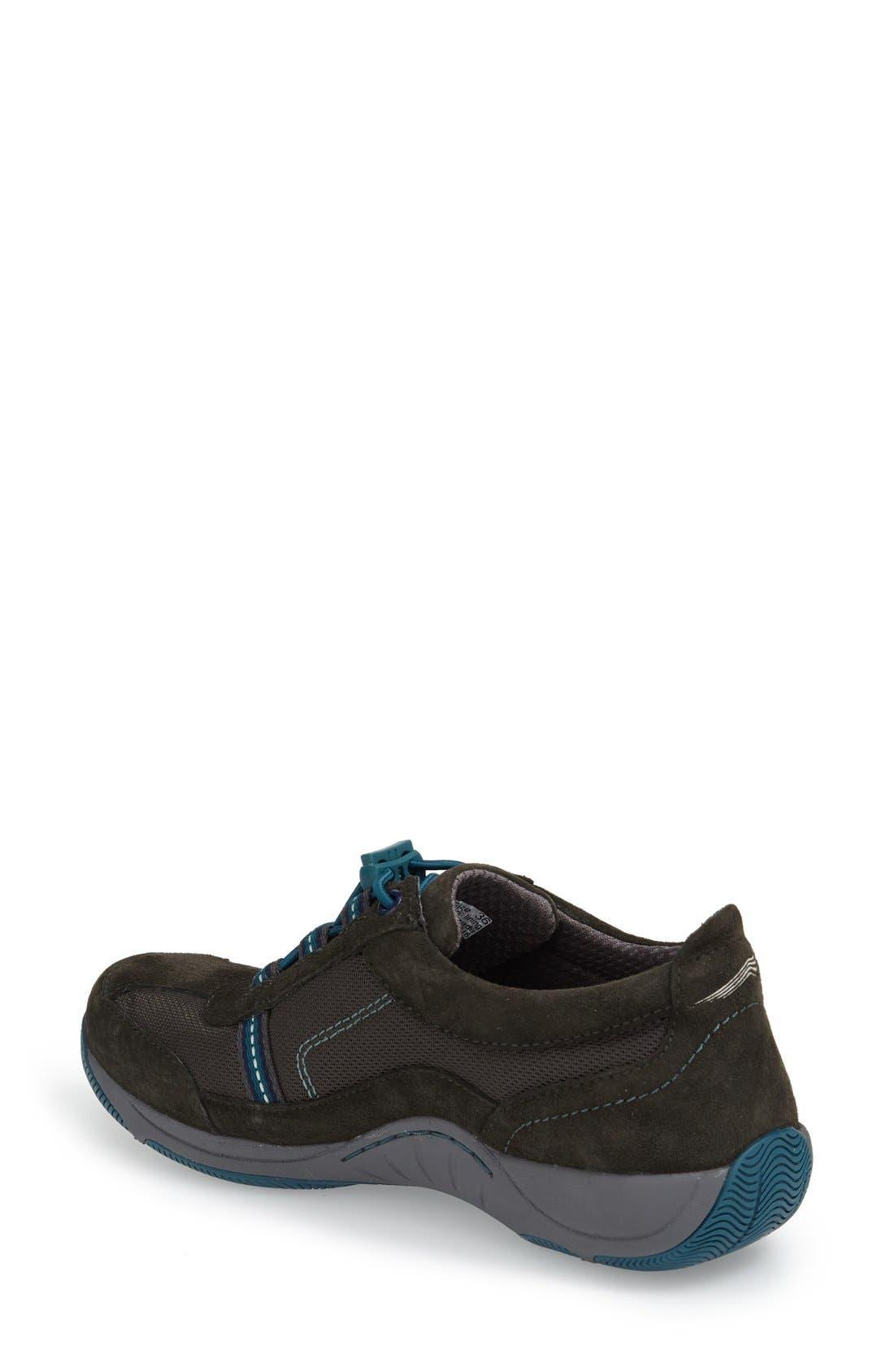 'Helen' Suede & Mesh Sneaker,                             Alternate thumbnail 77, color,