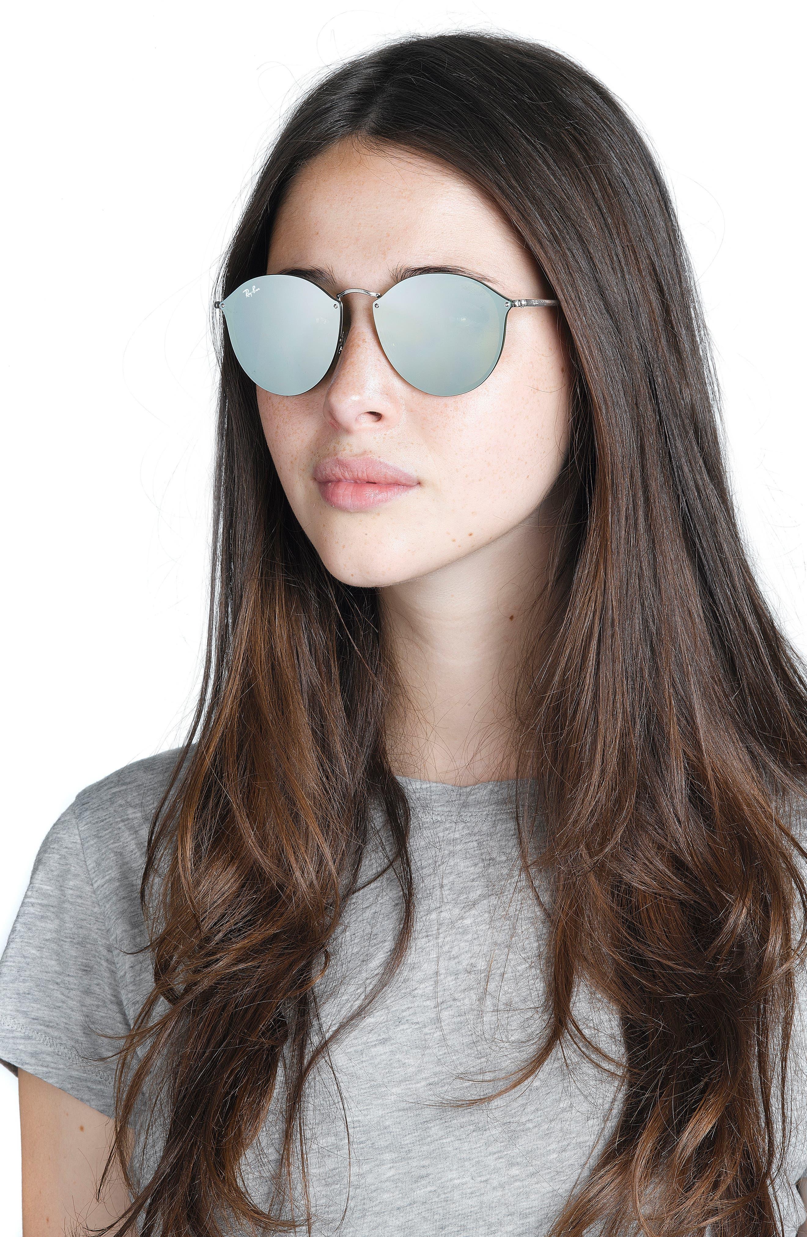 59mm Blaze Round Mirrored Sunglasses,                             Alternate thumbnail 10, color,