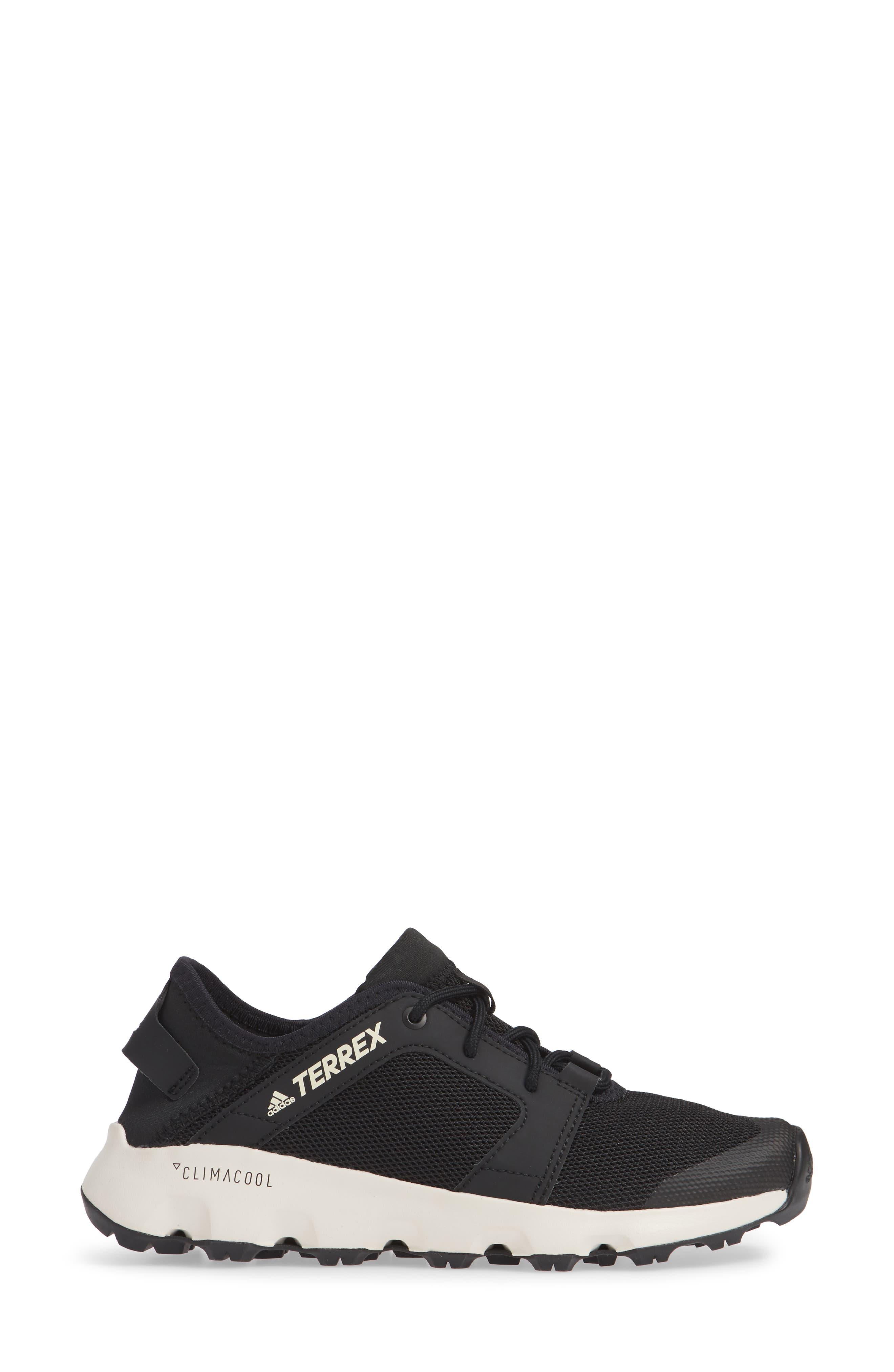 Terrex Climacool<sup>®</sup> Voyager Sleek Sneaker,                             Alternate thumbnail 3, color,                             BLACK/ BLACK/ CHALK WHITE
