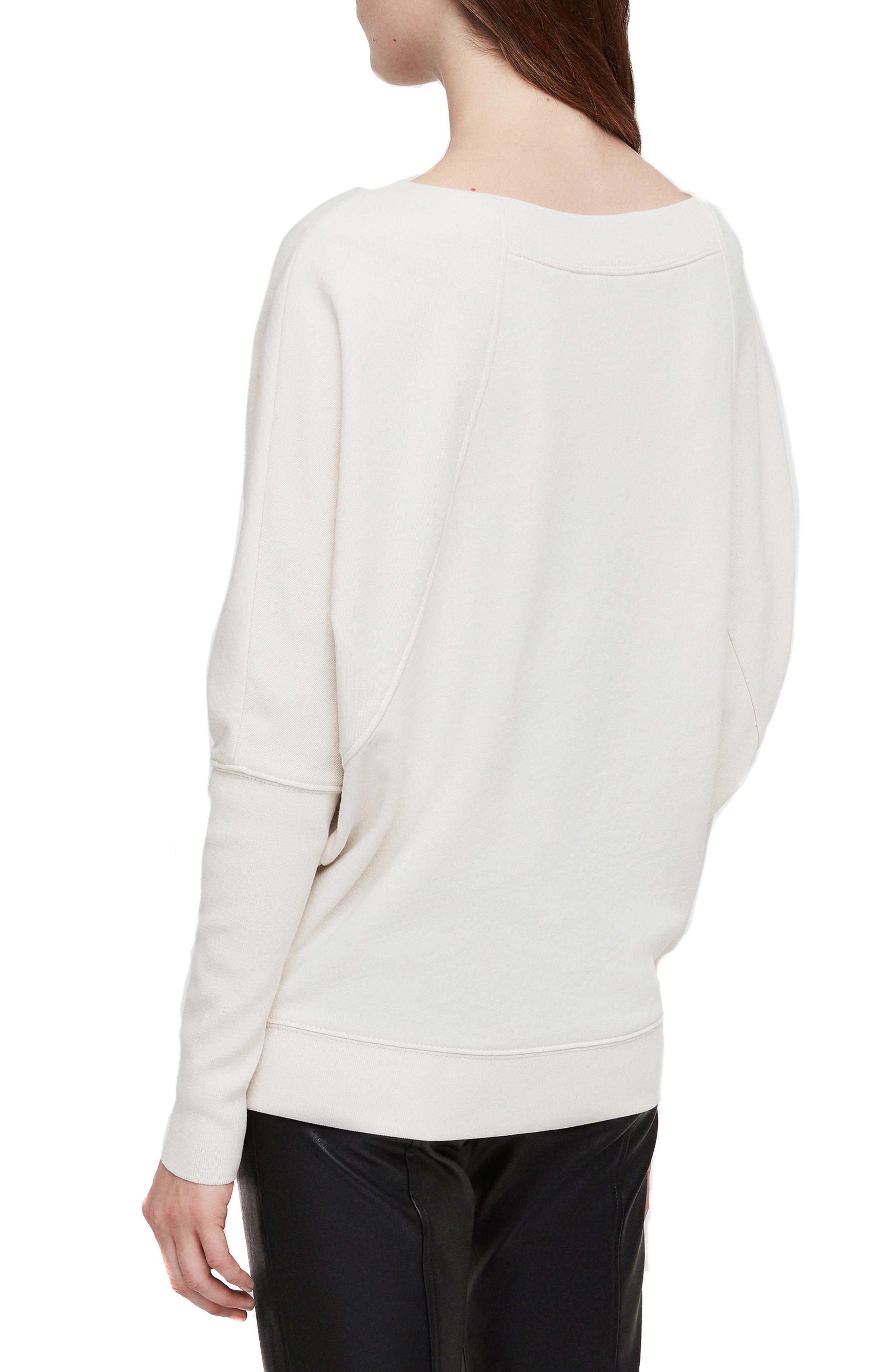 Allsaints Ridley One Shoulder Sweatshirt Nordstrom