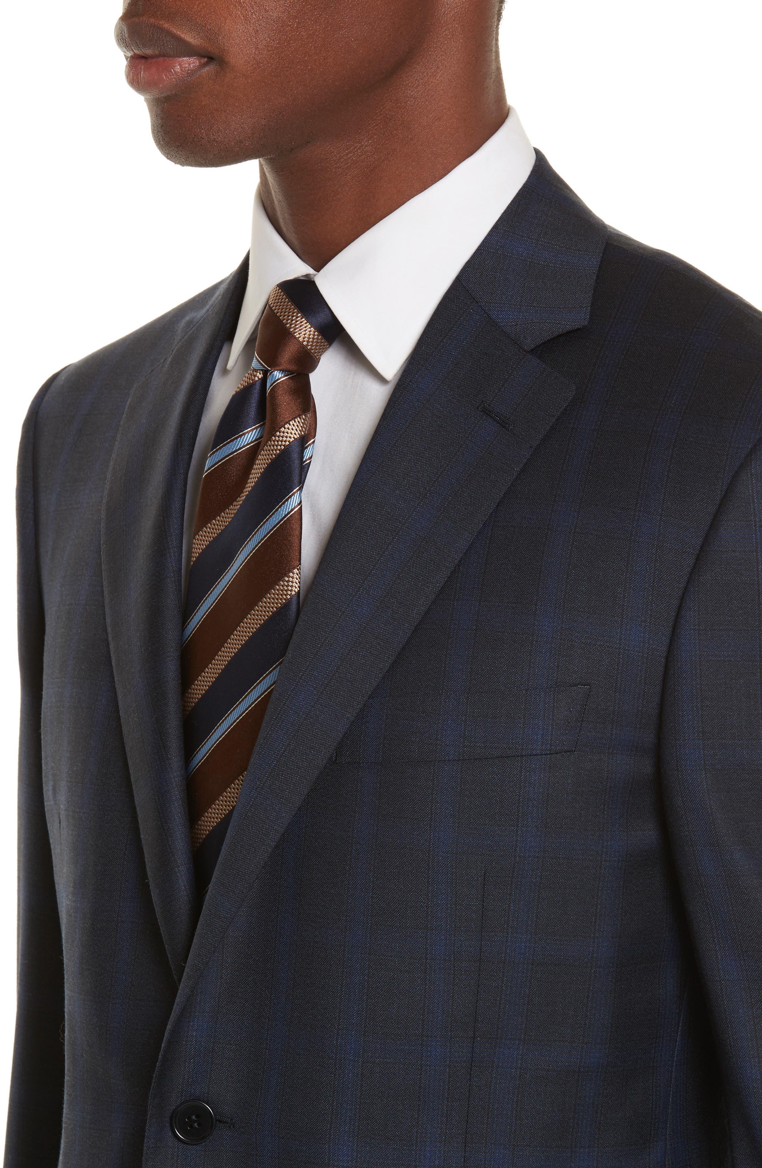 Classic Fit Plaid Wool Suit,                             Alternate thumbnail 4, color,                             400