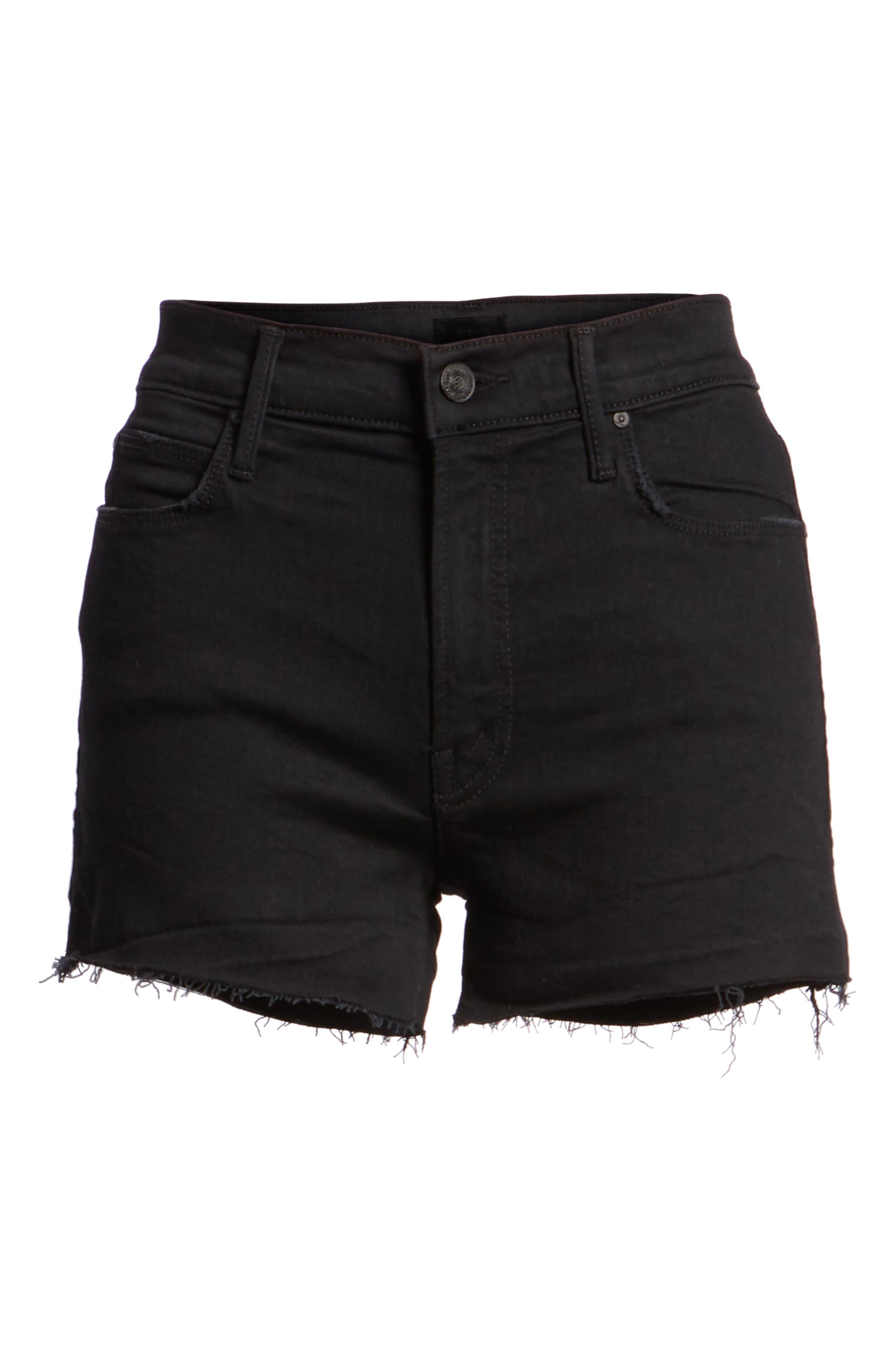 The Charmer Fray Denim Shorts,                             Alternate thumbnail 7, color,