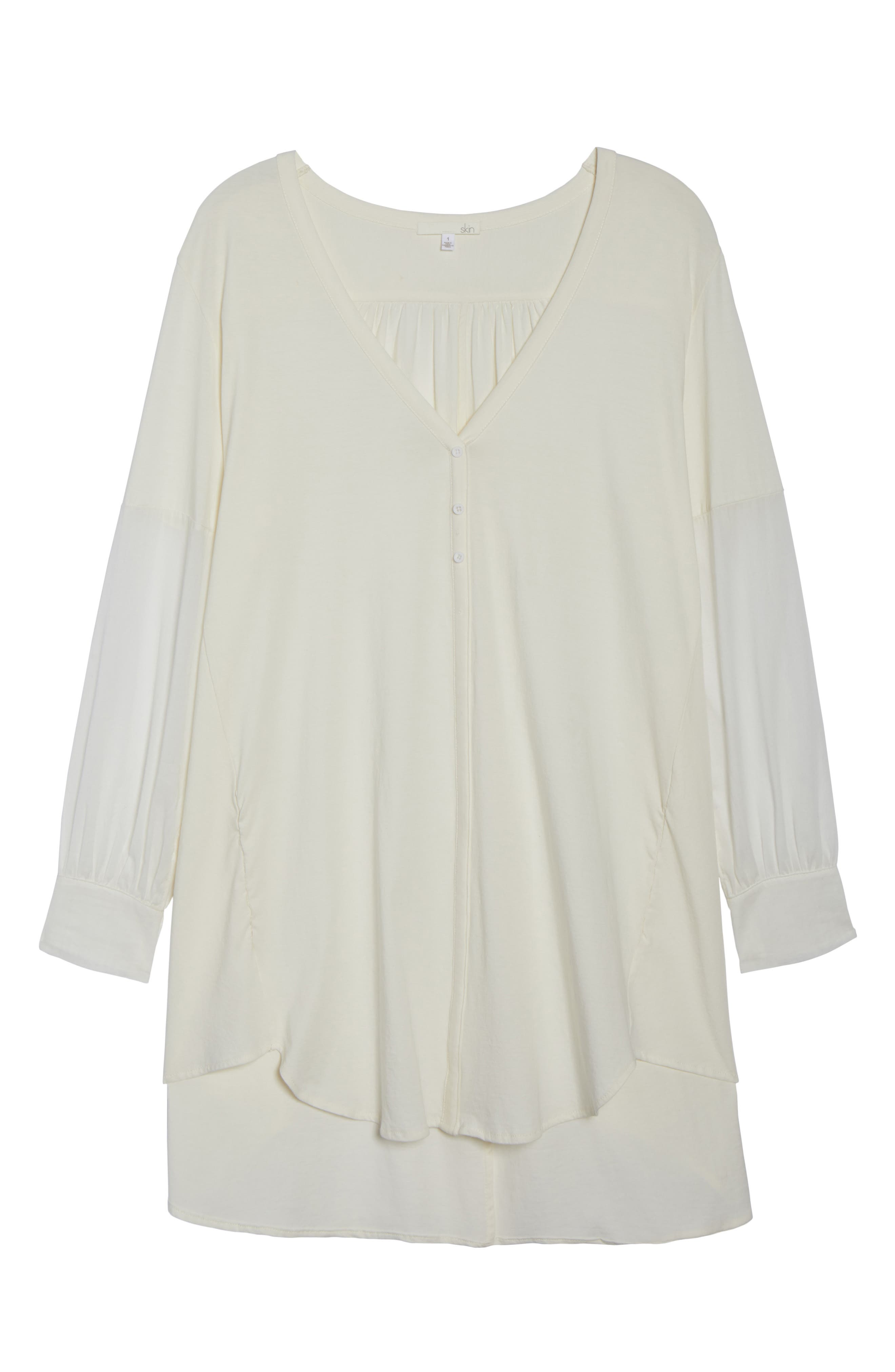 Blanche Pima Cotton Voile Sleep Shirt,                             Alternate thumbnail 6, color,                             900