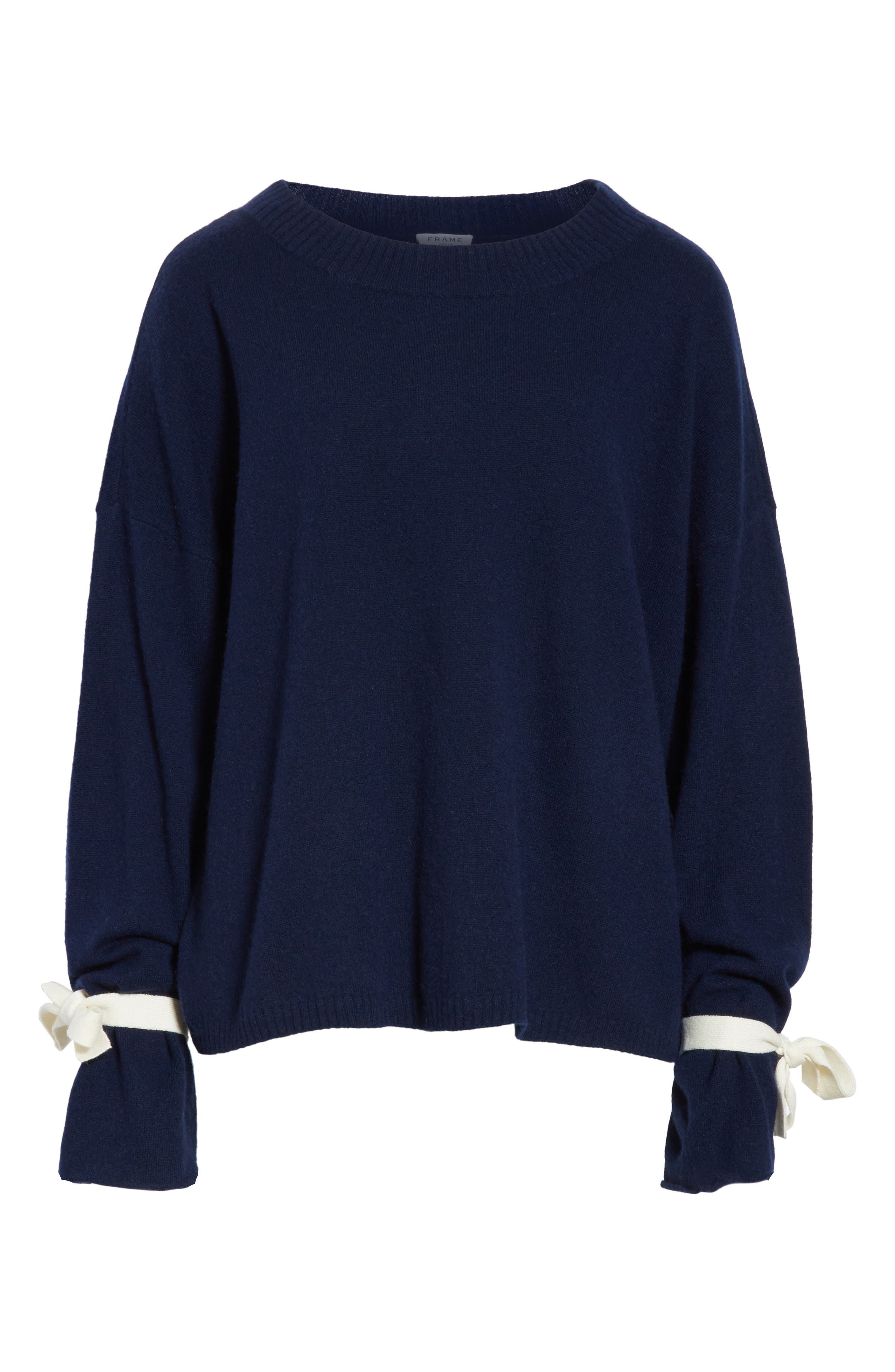 Tie Cuff Sweater,                             Alternate thumbnail 6, color,                             411