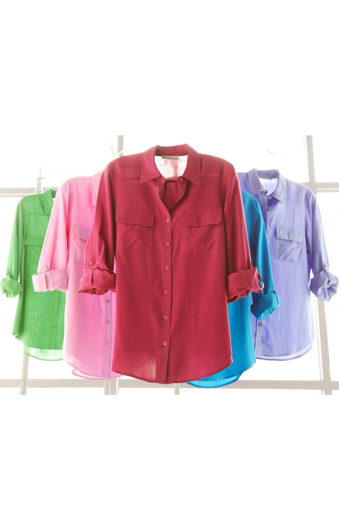 NEXX,                             Silk Blouse,                             Main thumbnail 1, color,                             342