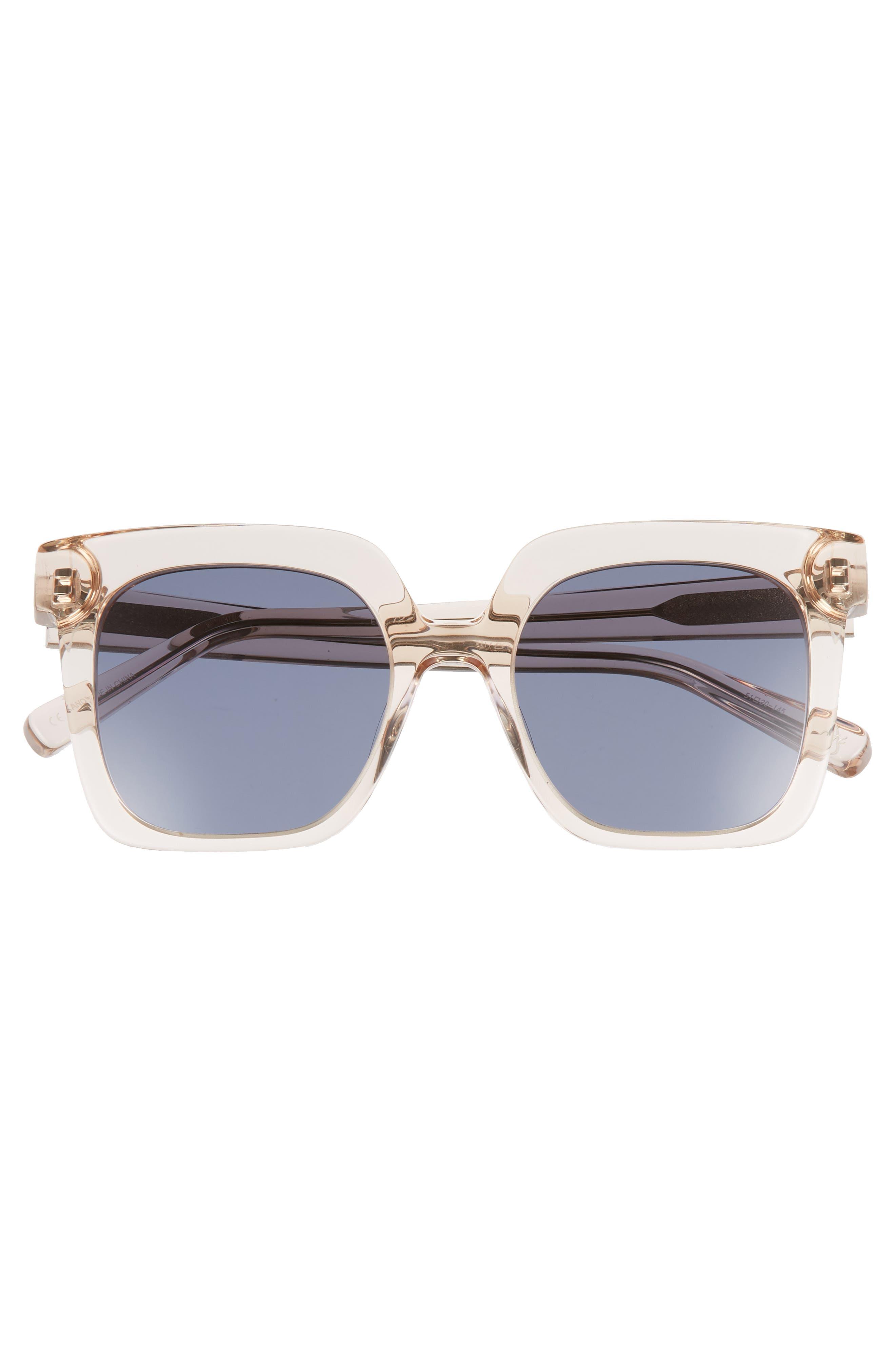 Rae 51mm Square Sunglasses,                             Alternate thumbnail 8, color,