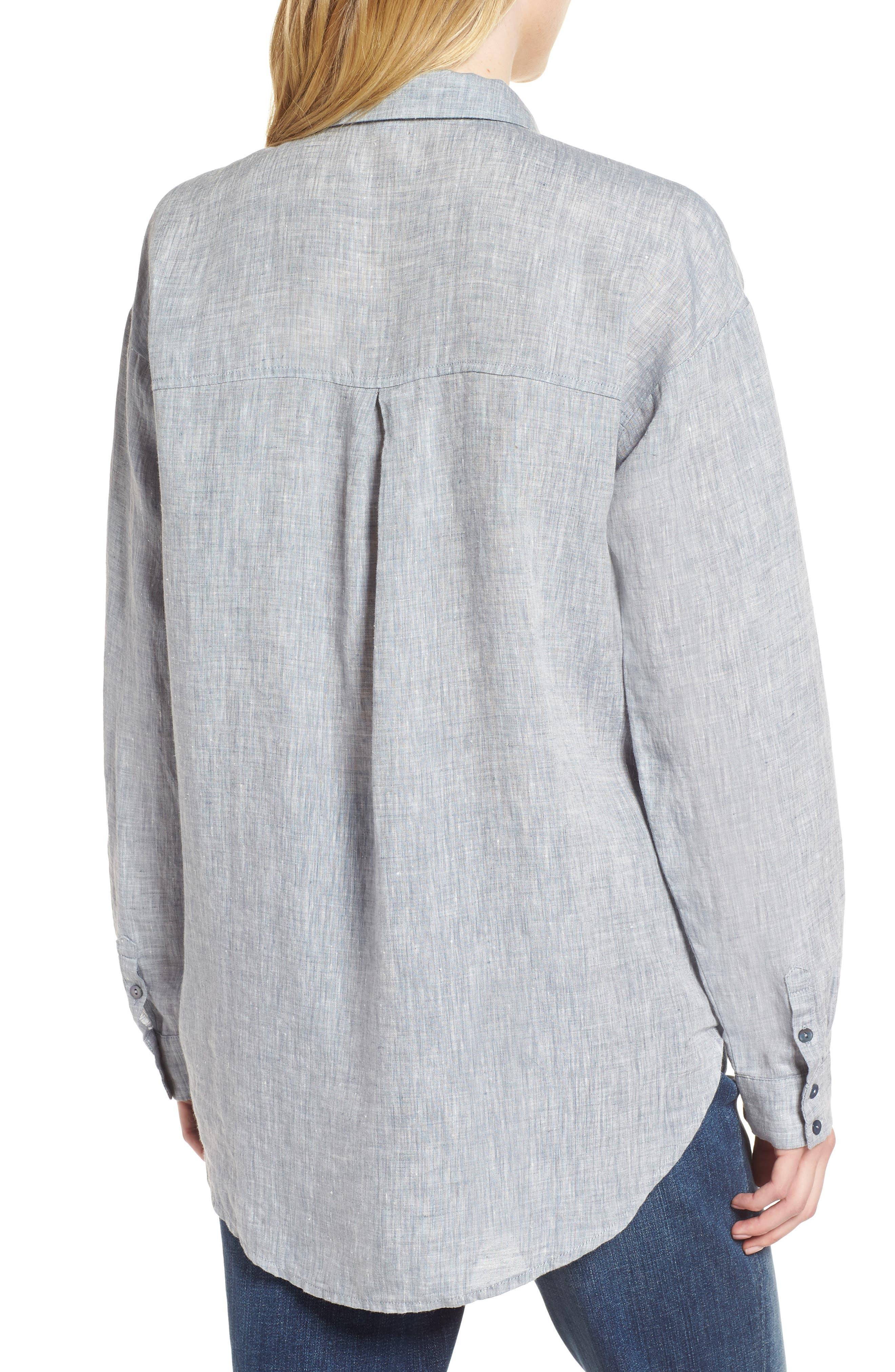 Organic Linen Shirt,                             Alternate thumbnail 4, color,