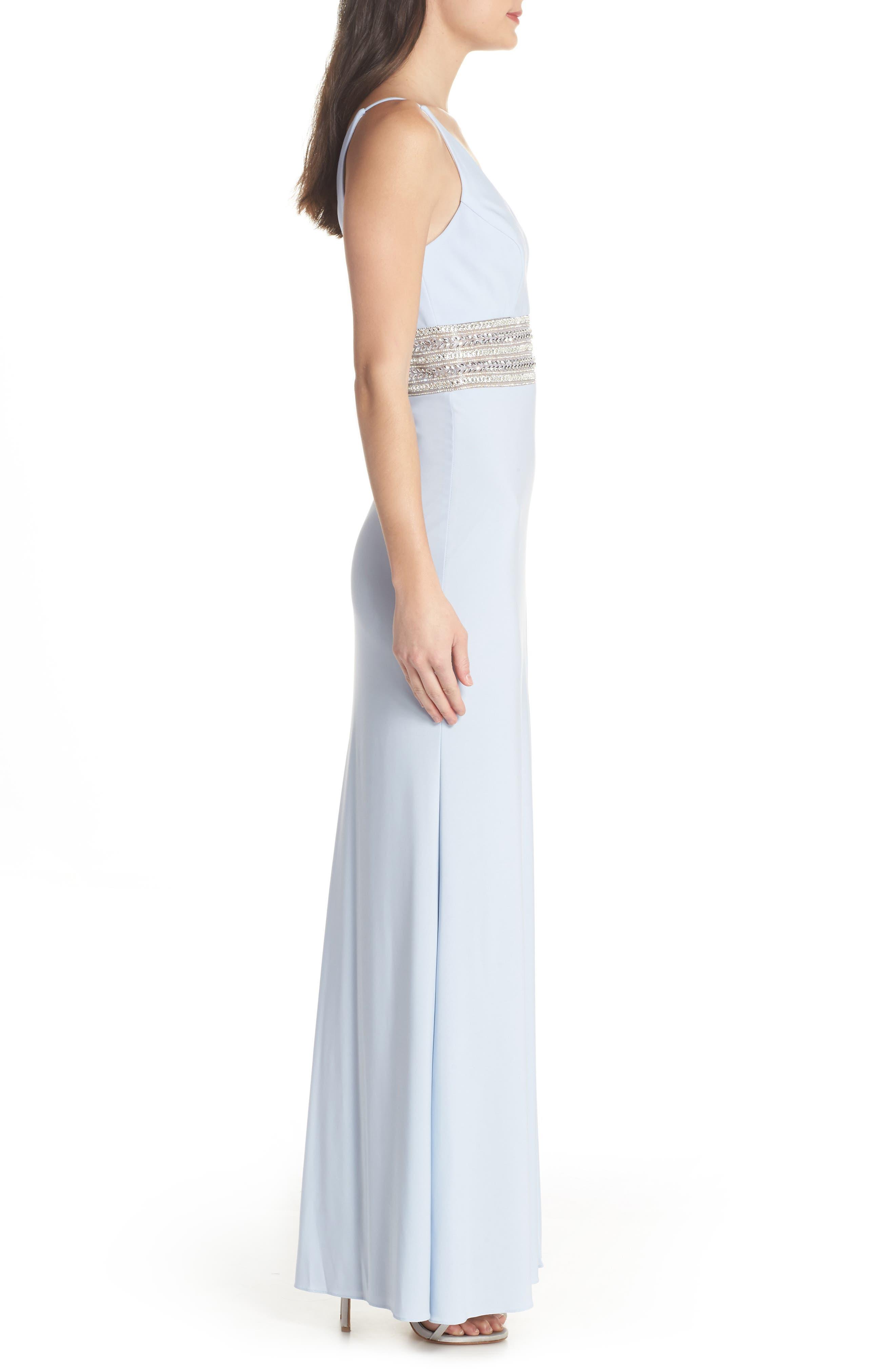 Beaded Waist Gown,                             Alternate thumbnail 3, color,                             450