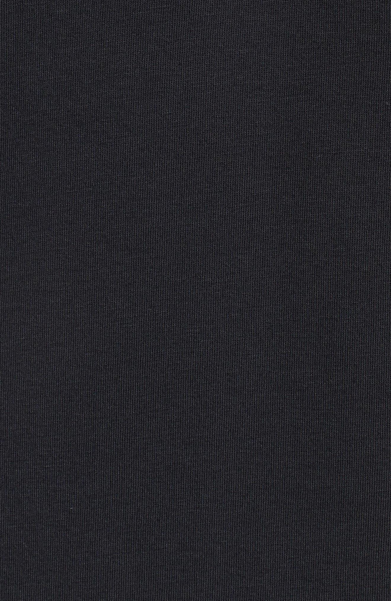 Mesh Panel T-Shirt,                             Alternate thumbnail 5, color,                             BLACK