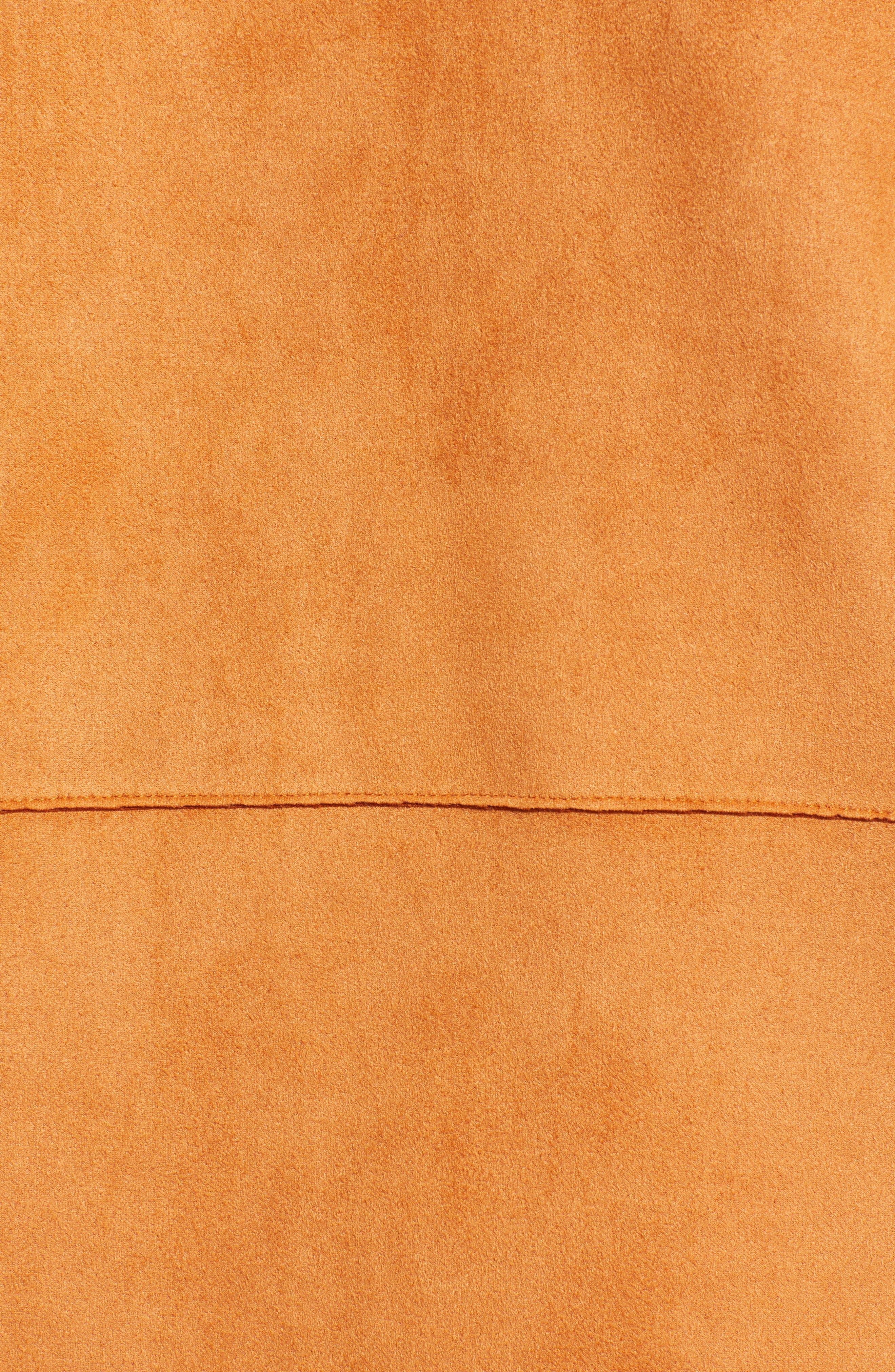Asymmetrical Faux Suede Vest,                             Alternate thumbnail 7, color,                             COGNAC