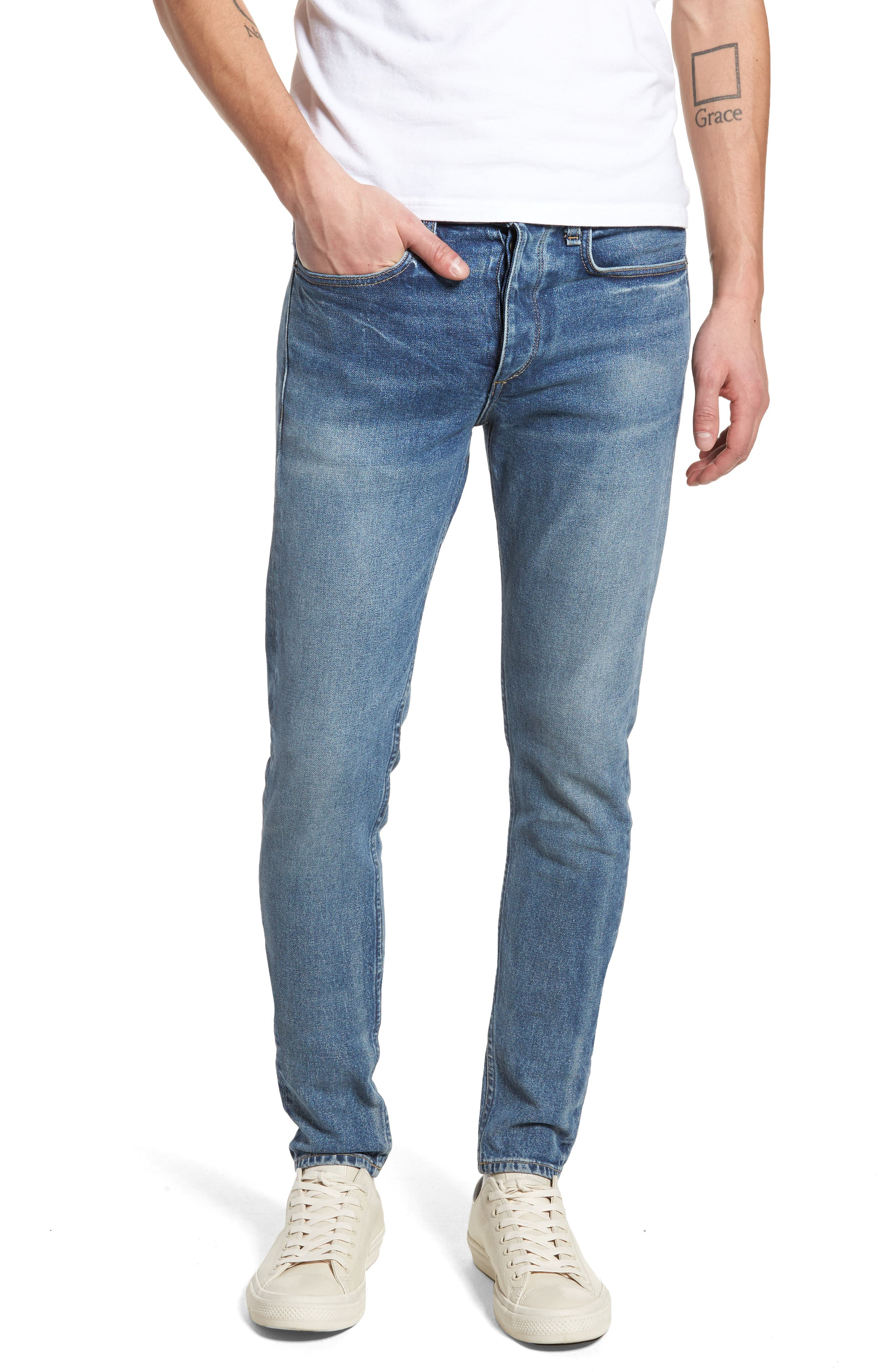 Fit 1 Skinny Fit Jeans,                         Main,                         color, BRIGHTON