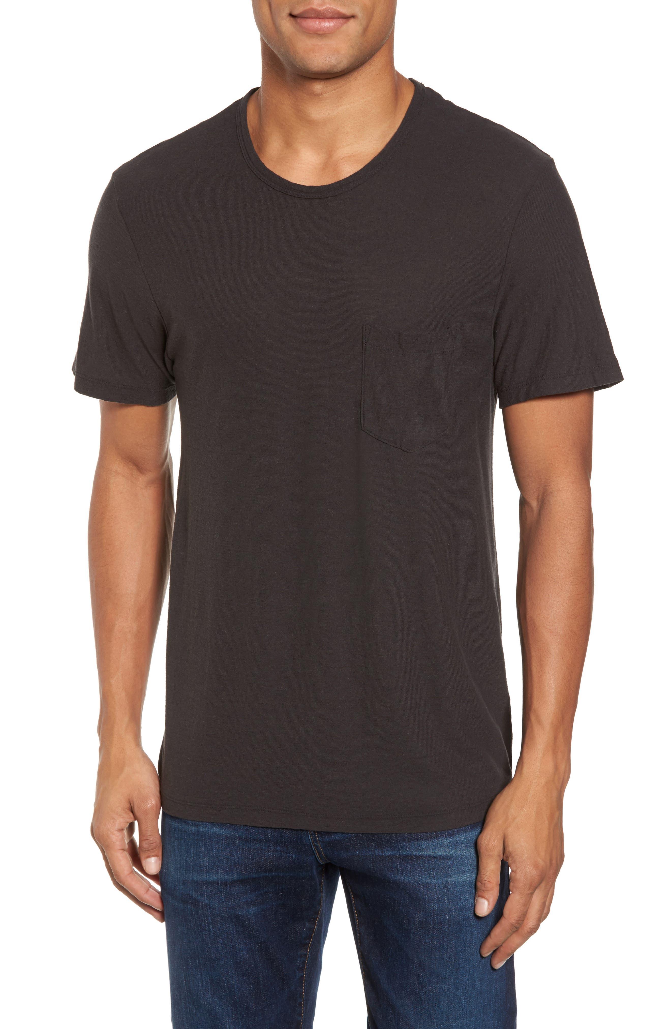 Cotton & Linen Pocket T-Shirt,                         Main,                         color, 020