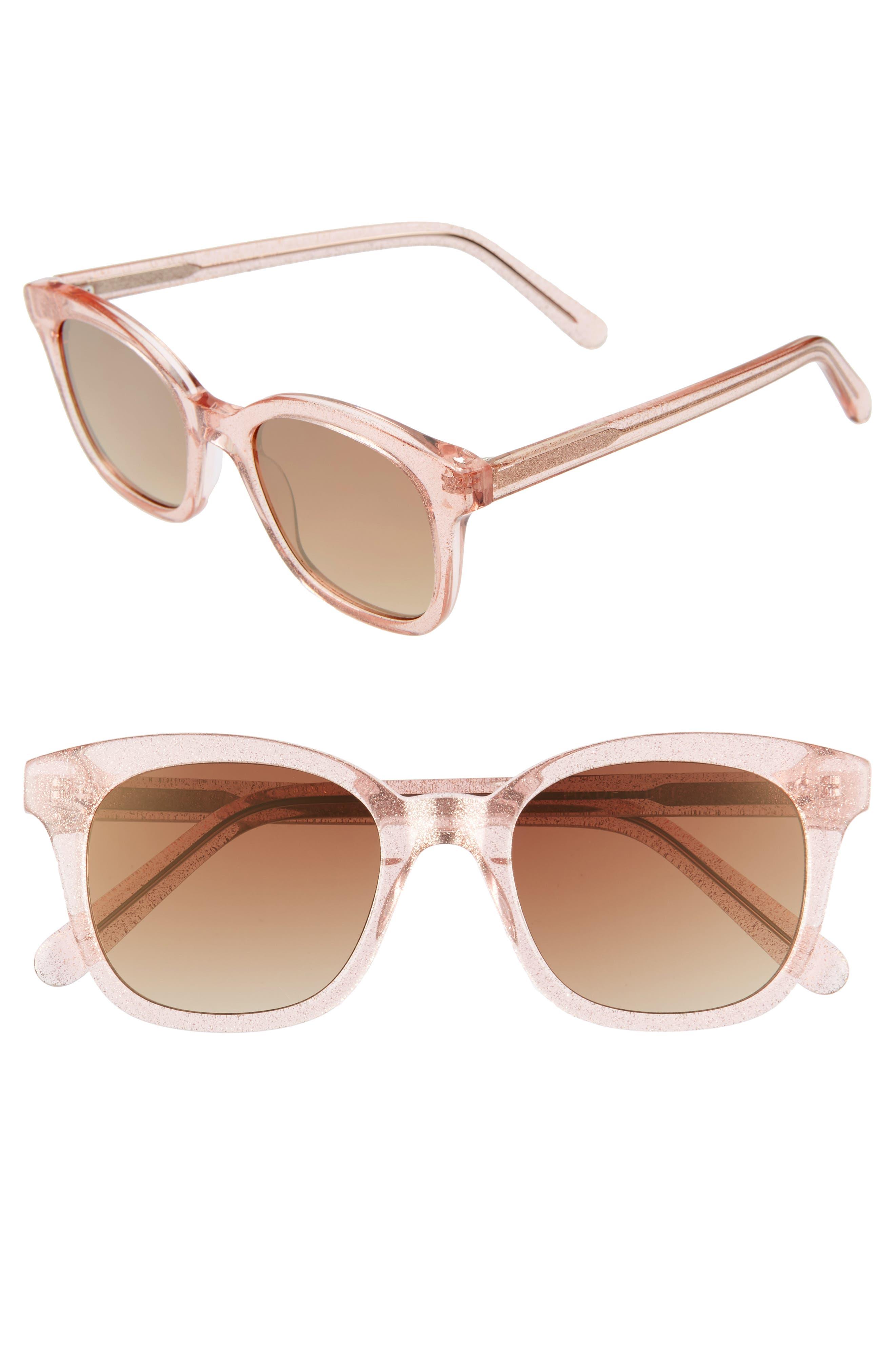 Madewell Venice 4m Flat Frame Sunglasses - Light Pink