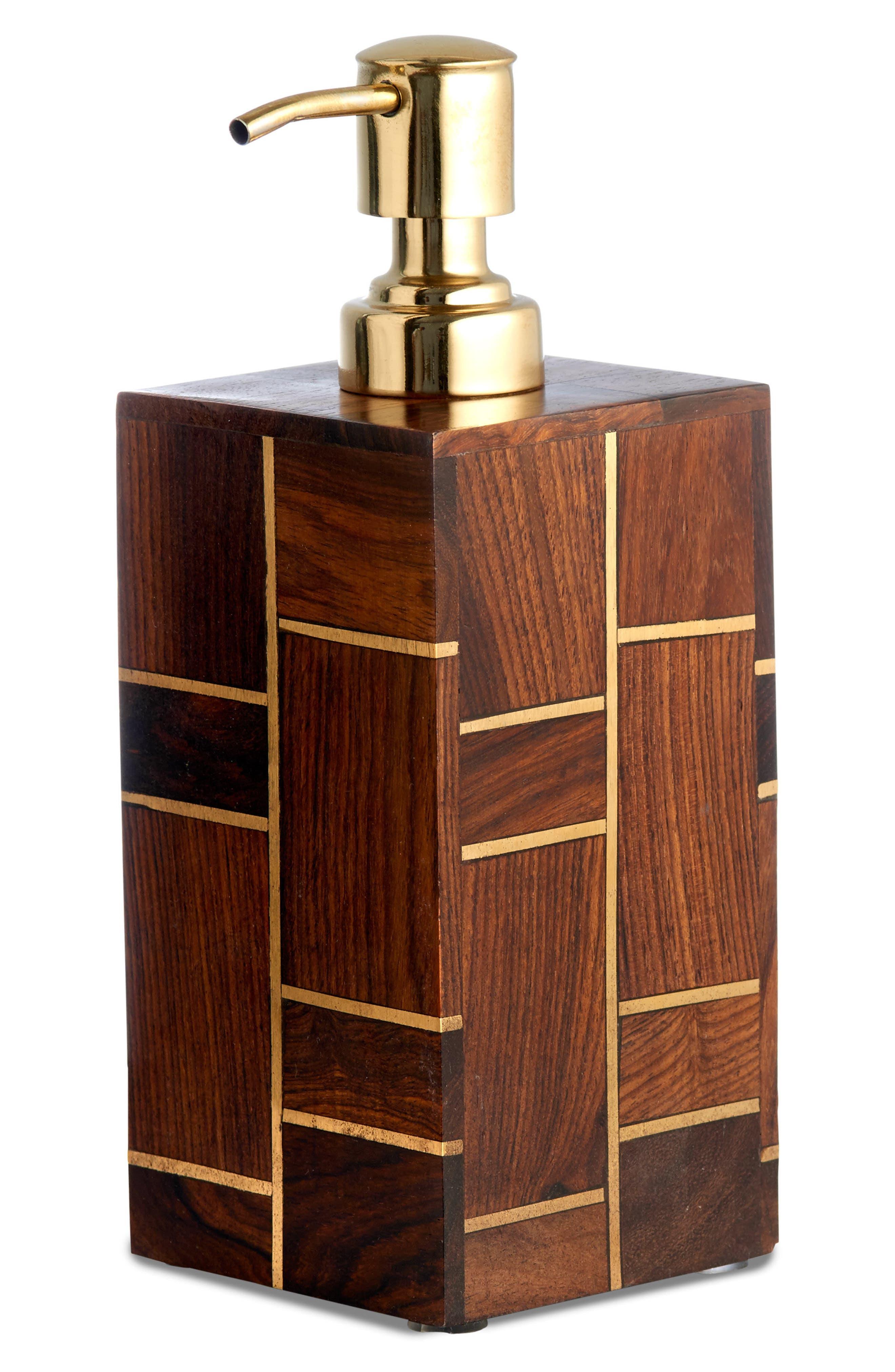 Melrose Rosewood Lotion Dispenser,                         Main,                         color, 200