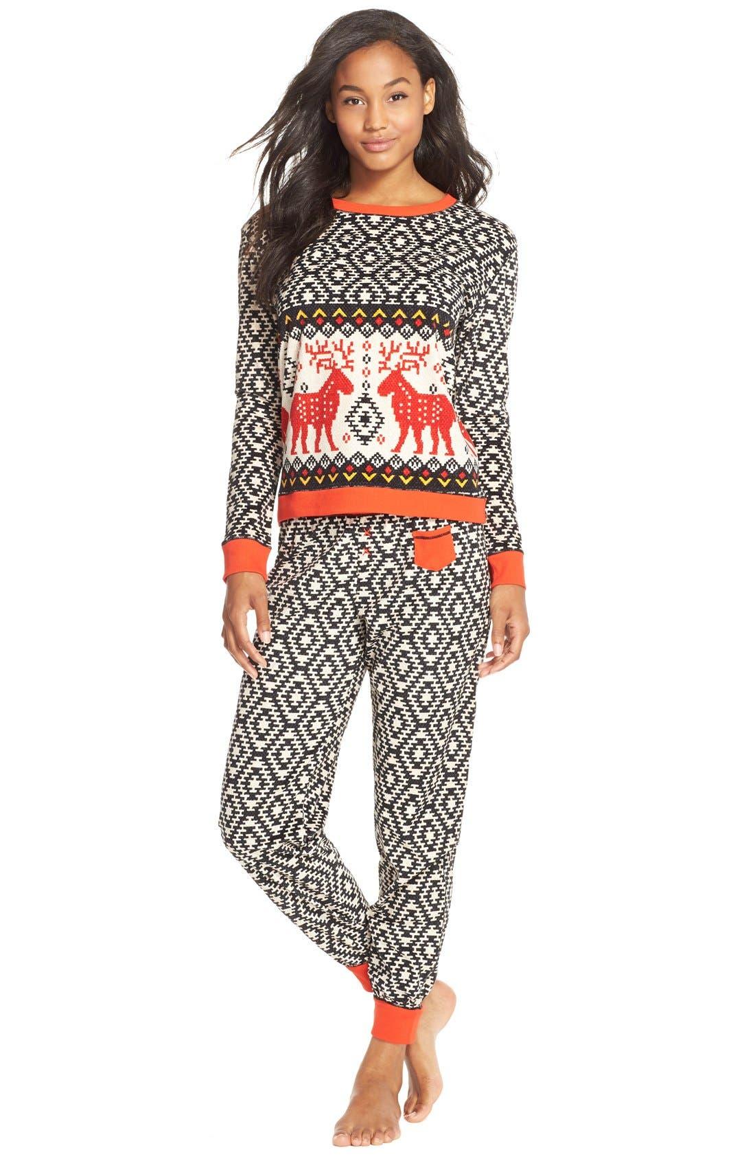 KENSIE,                             'ArcticChill' Knit Pajamas,                             Main thumbnail 1, color,                             015