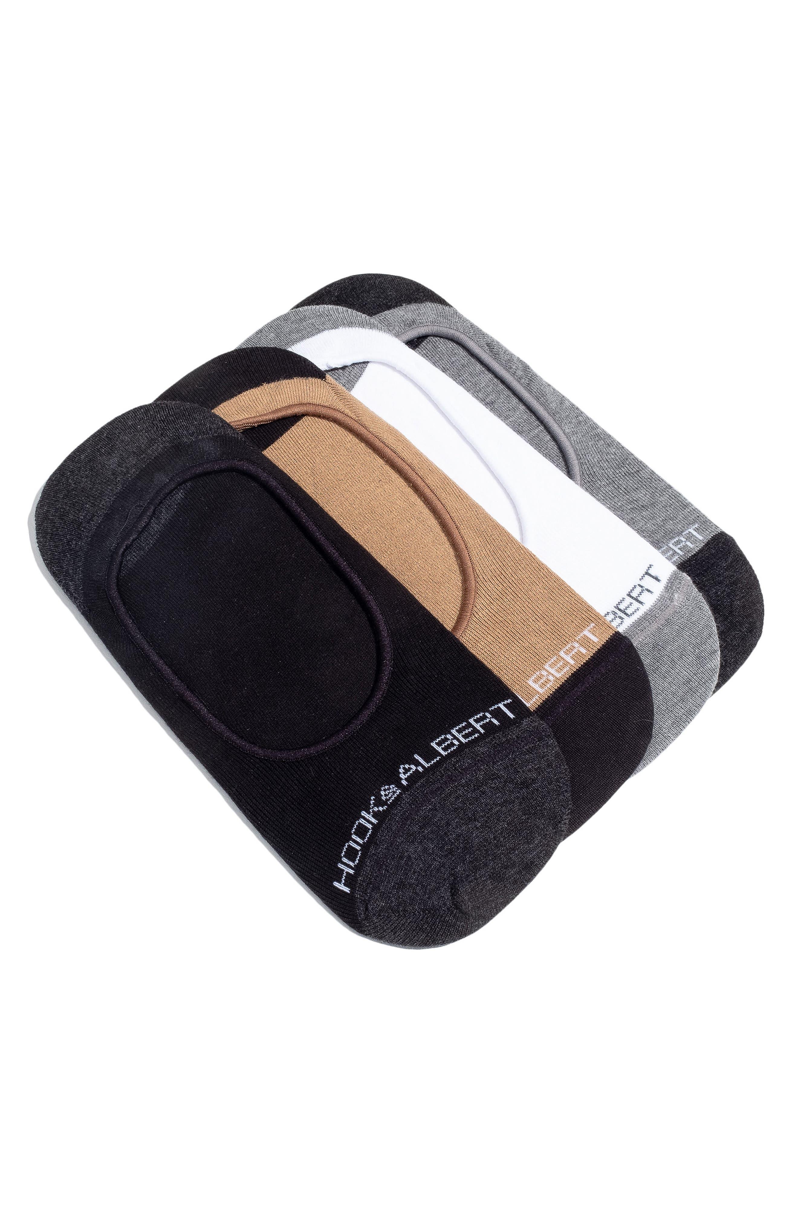 4-Pack Liner Socks,                             Main thumbnail 1, color,                             BLACK