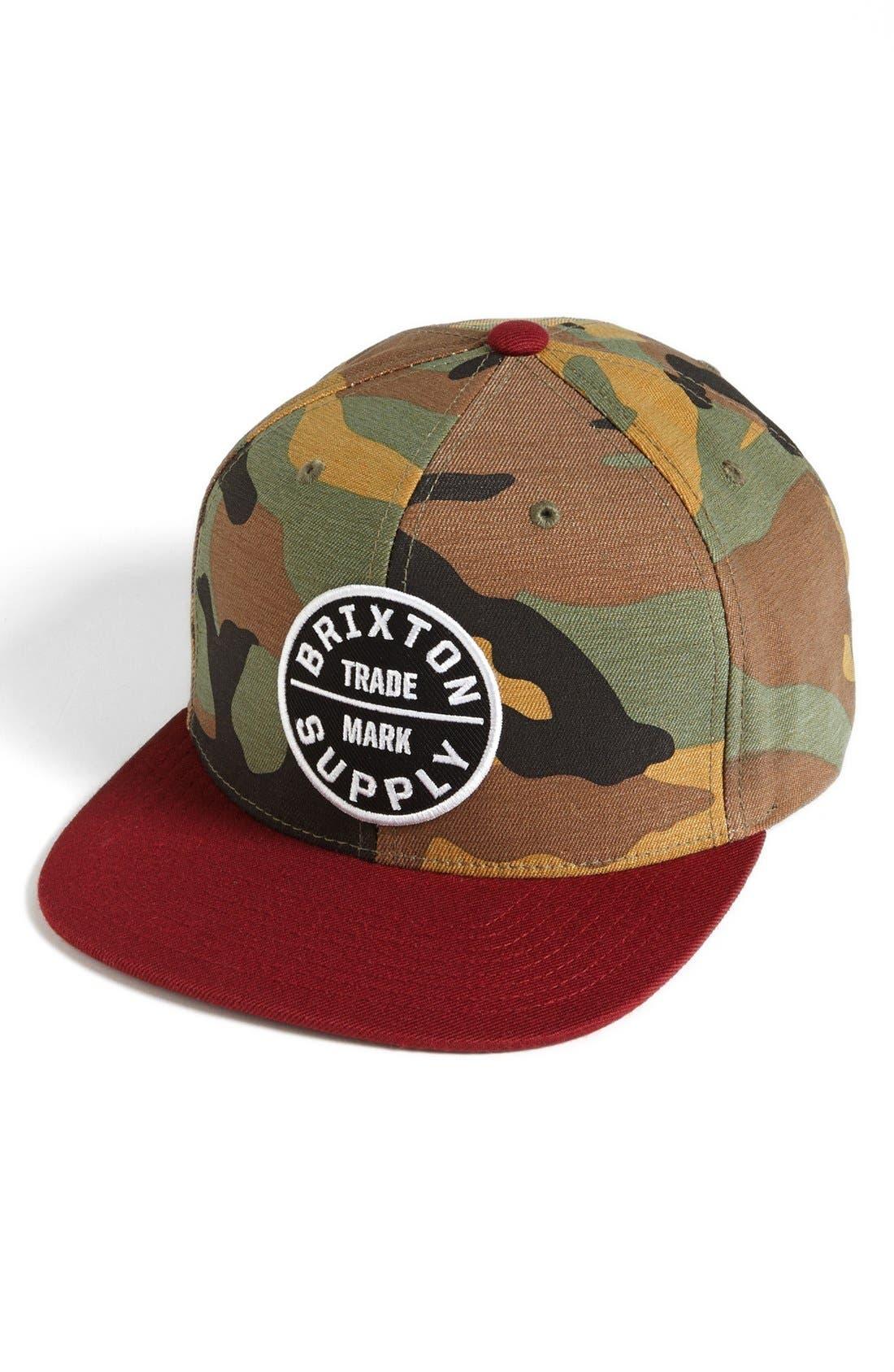 'Oath III' Snapback Cap,                         Main,                         color, OLIVE CAMO