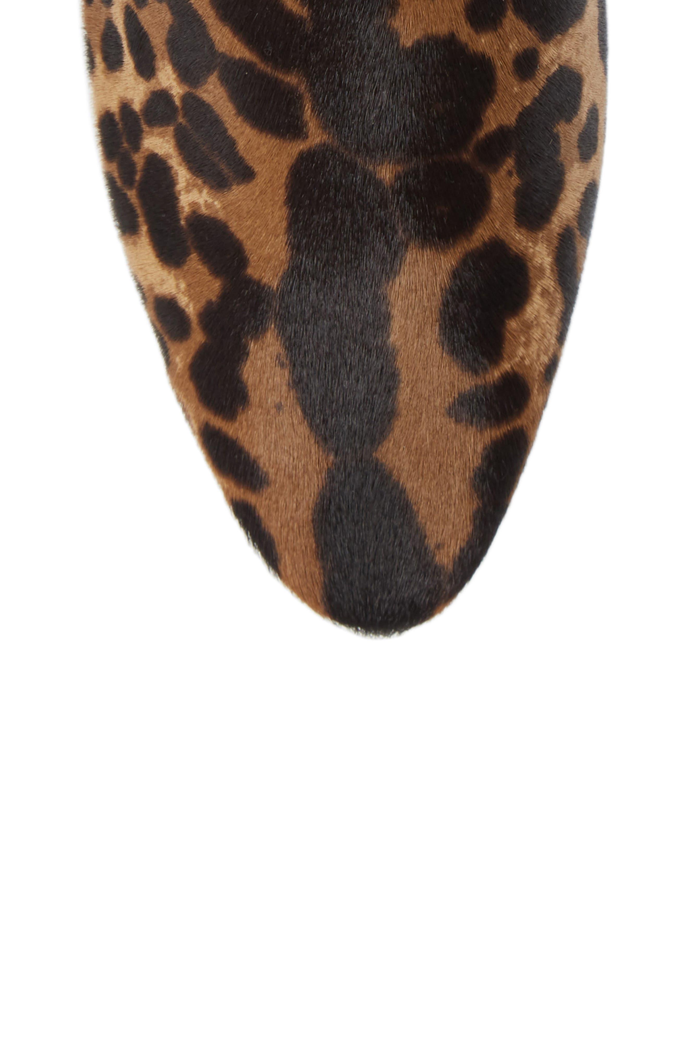 Leopard Genuine Calf Hair Buckle Bootie,                             Alternate thumbnail 5, color,                             LEOPARD CALF HAIR