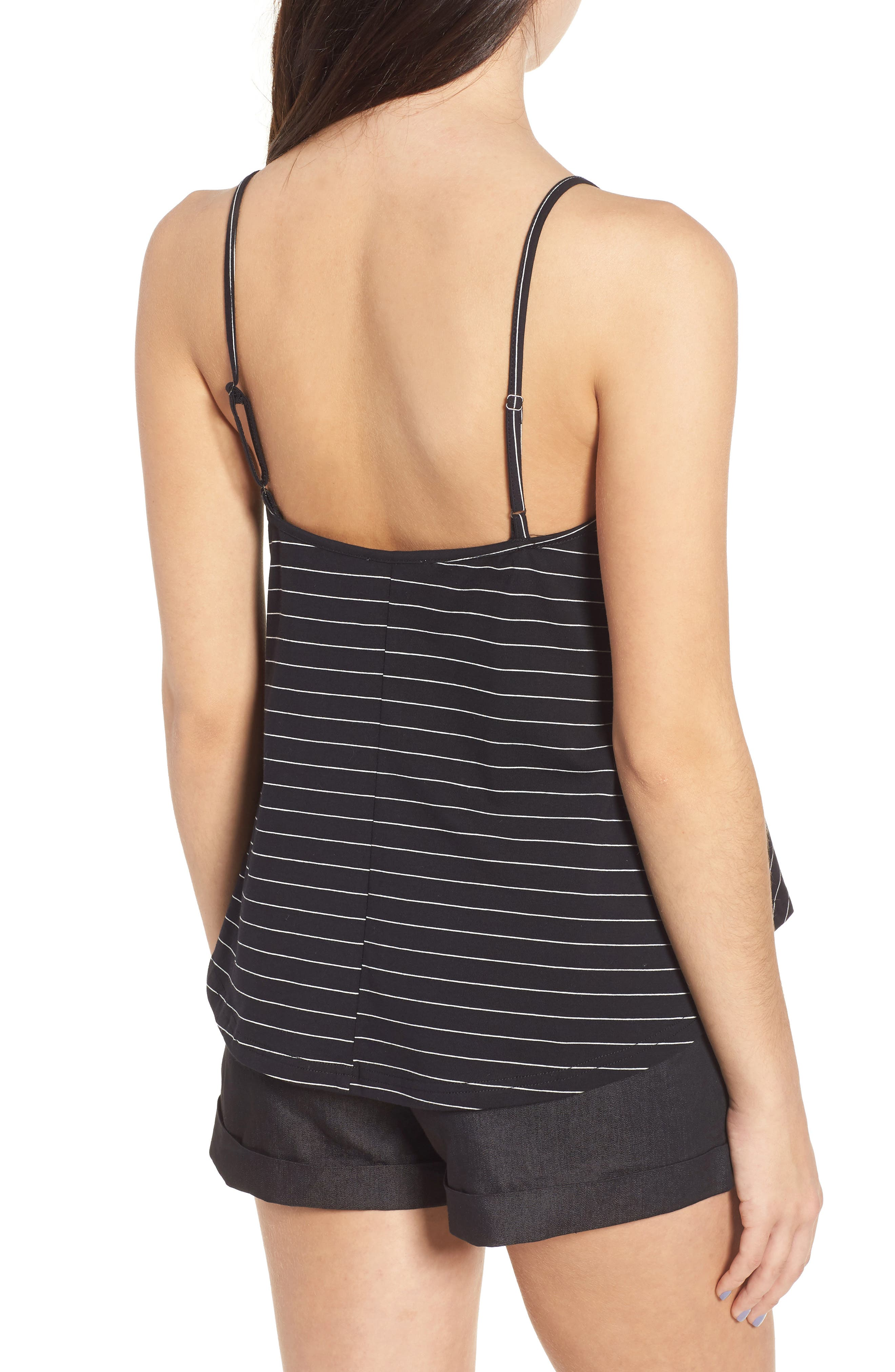 Harlow Stripe Camisole Top,                             Alternate thumbnail 2, color,                             001