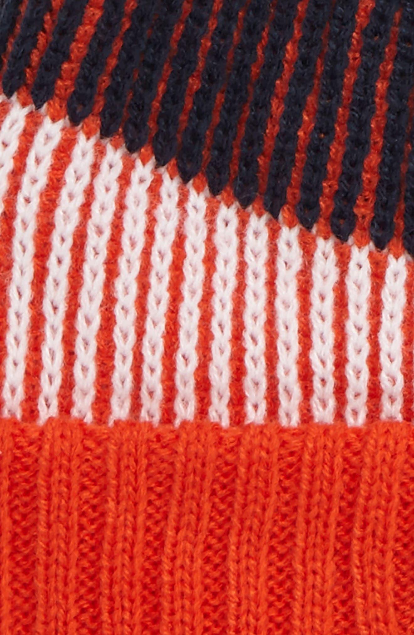 NFL Team Stripe Pom Beanie,                             Alternate thumbnail 3, color,                             401