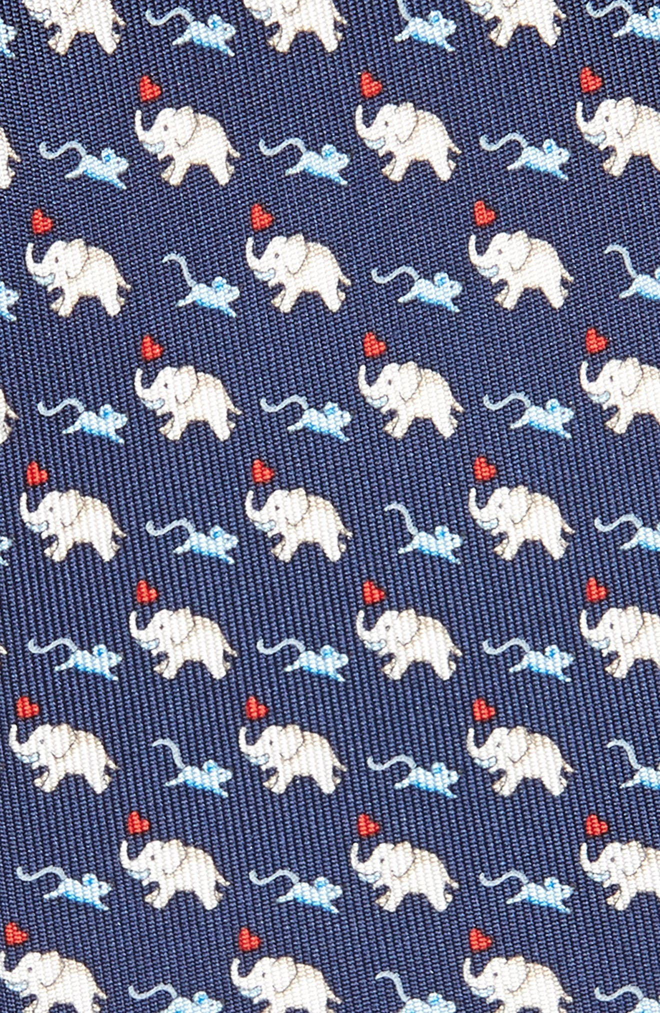 Gerry Print Silk Tie,                             Alternate thumbnail 2, color,                             NAVY/ RED