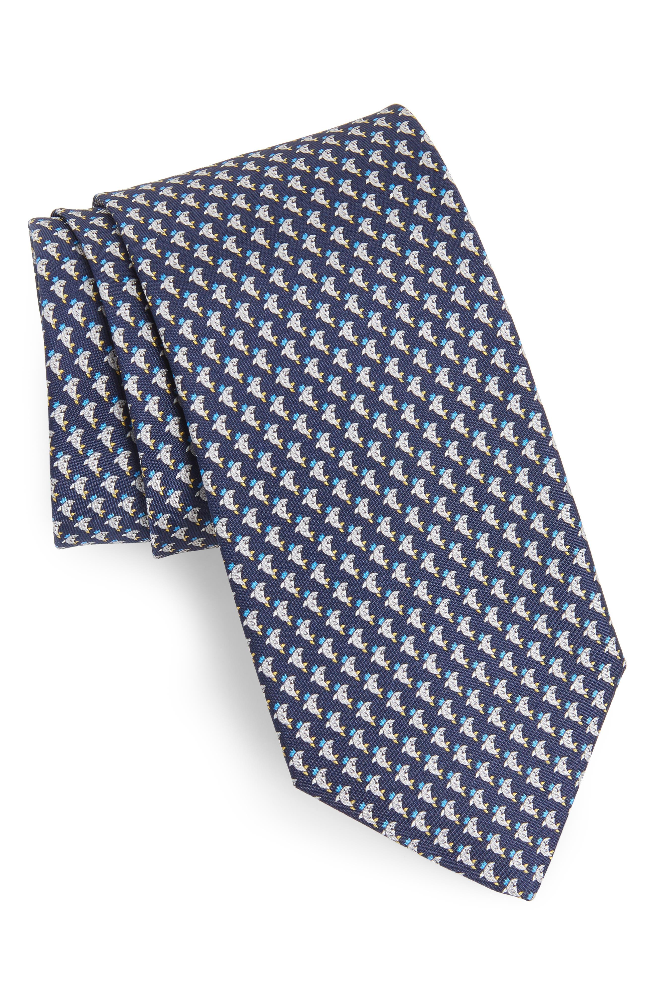 Eraldo Print Silk Tie,                         Main,                         color, 491