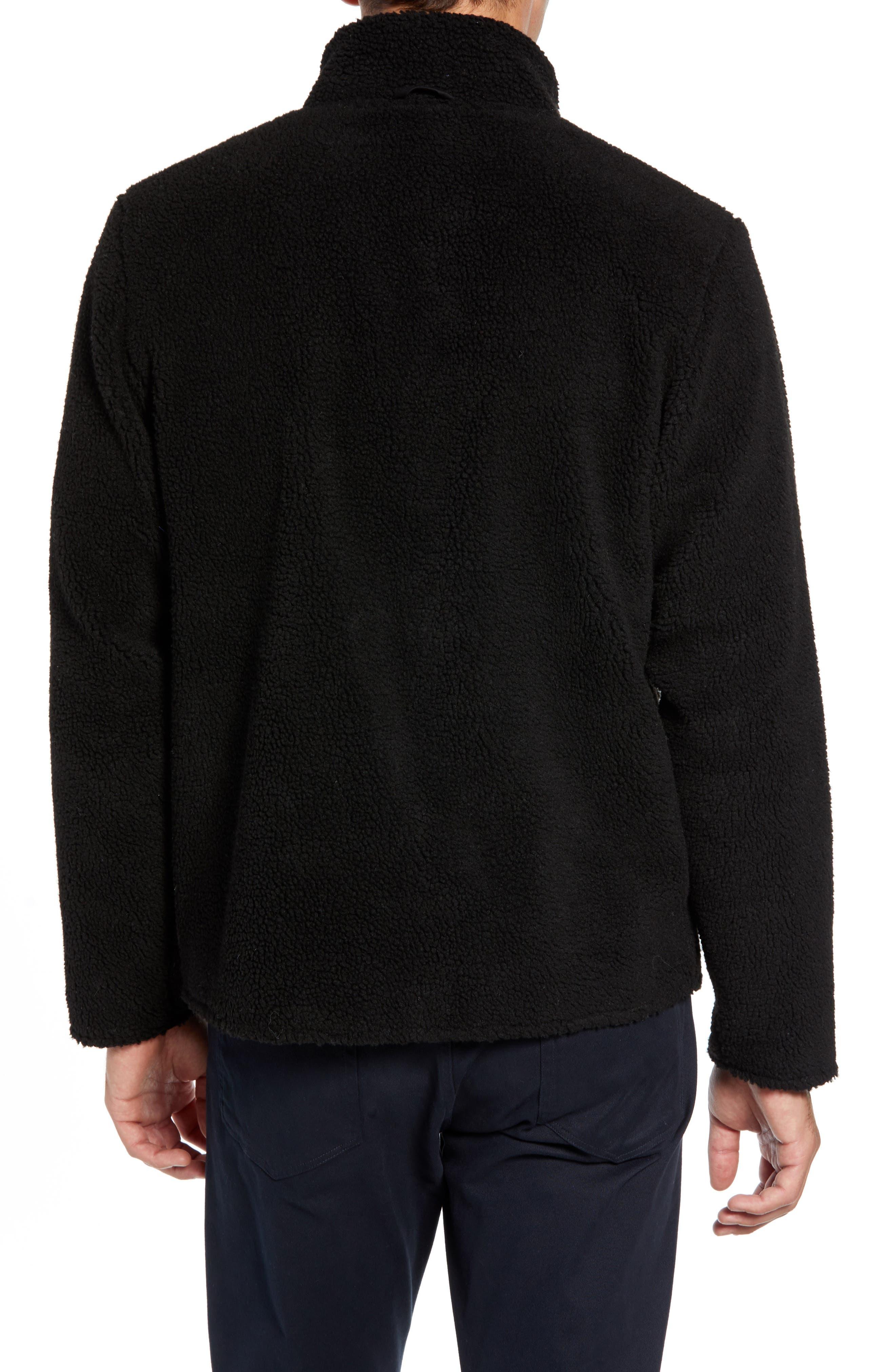 Varby Reversible Fleece Jacket,                             Alternate thumbnail 3, color,                             BLACK