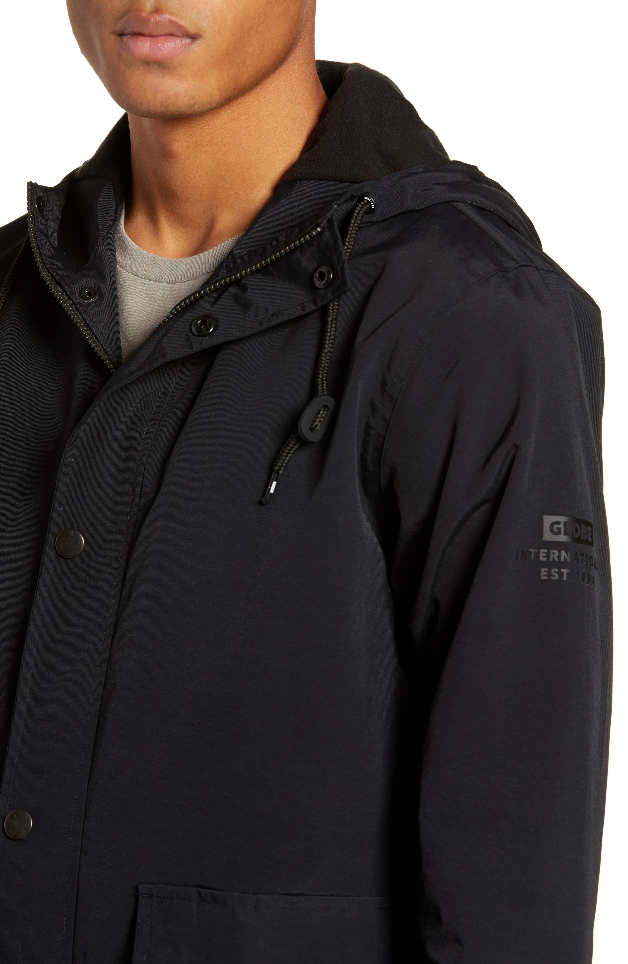 Goodstock Utility Jacket,                             Alternate thumbnail 4, color,                             BLACK
