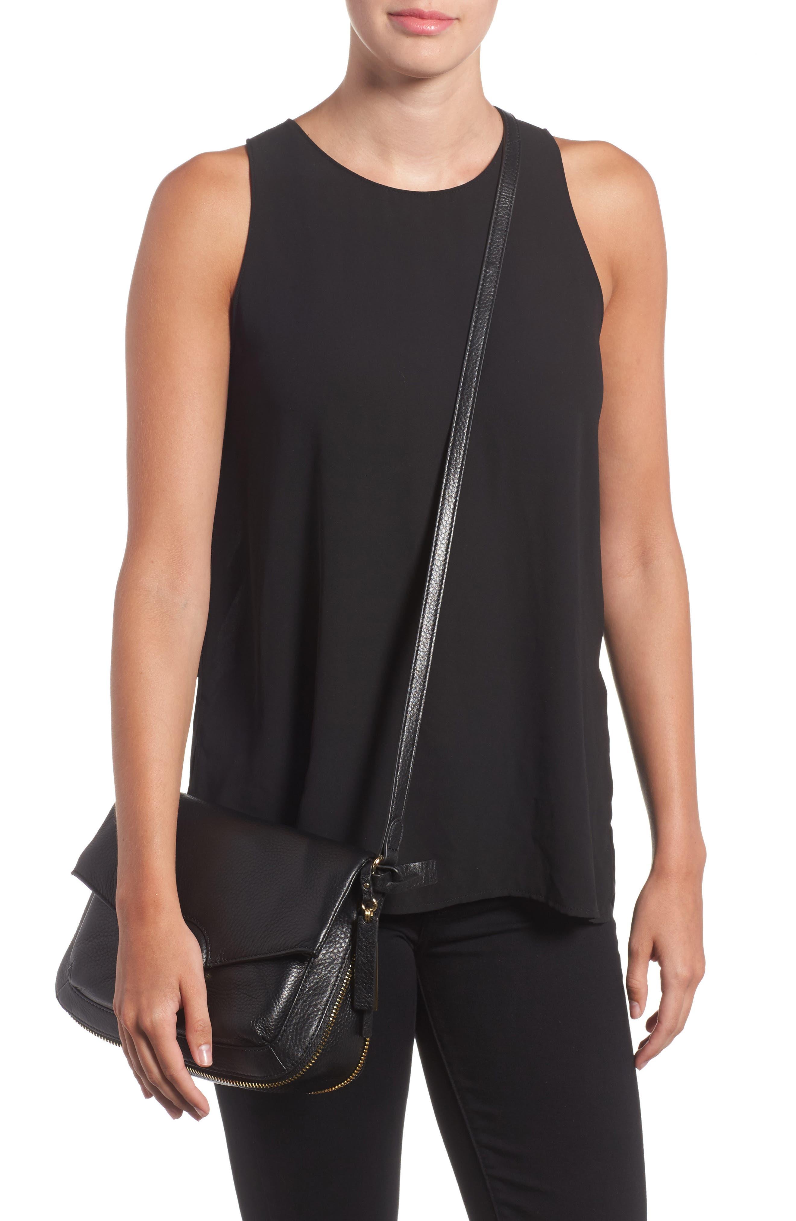Adina Leather Crossbody Bag,                             Alternate thumbnail 2, color,                             001