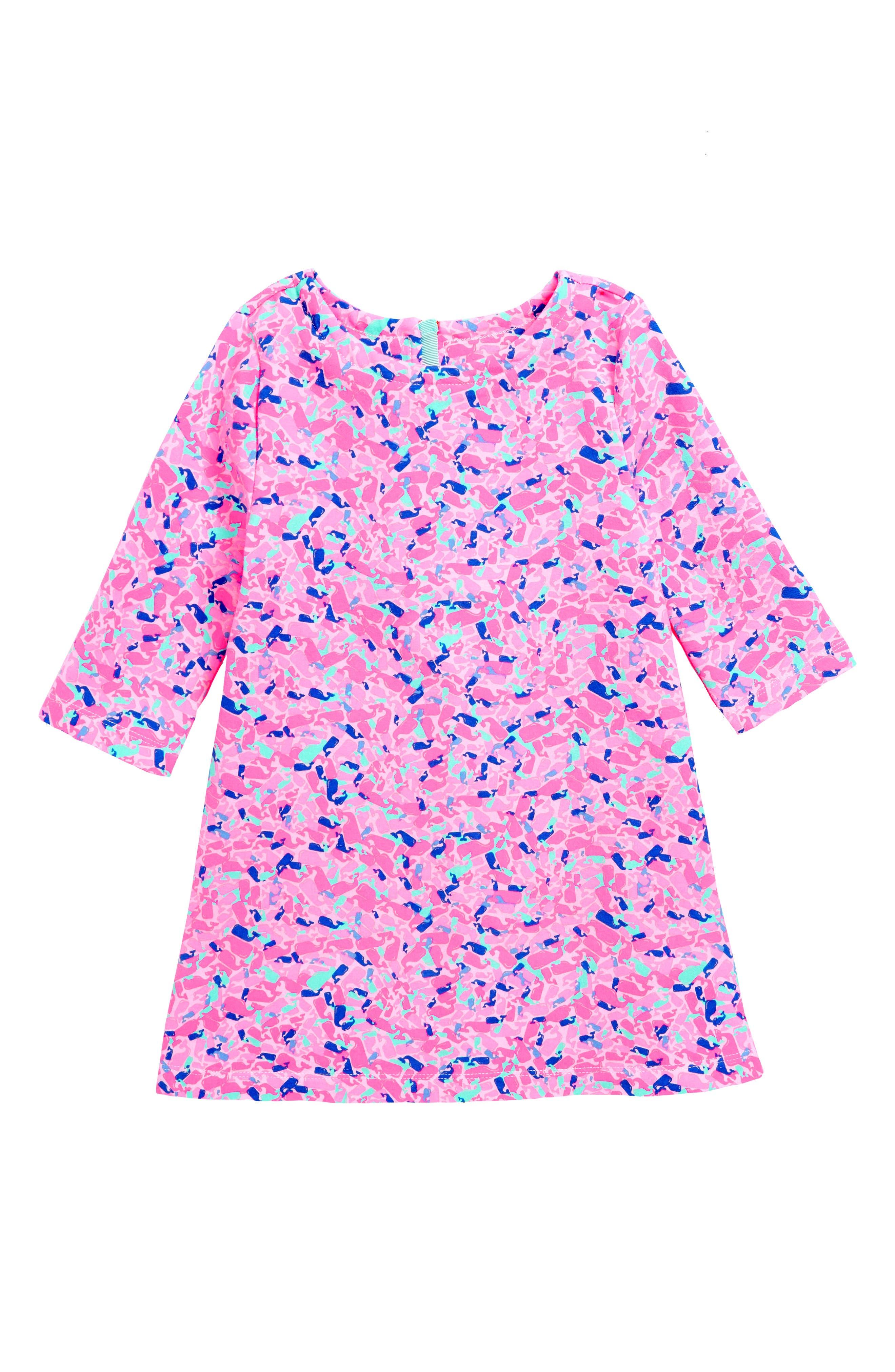 Whale Swirl Dress,                         Main,                         color, 650