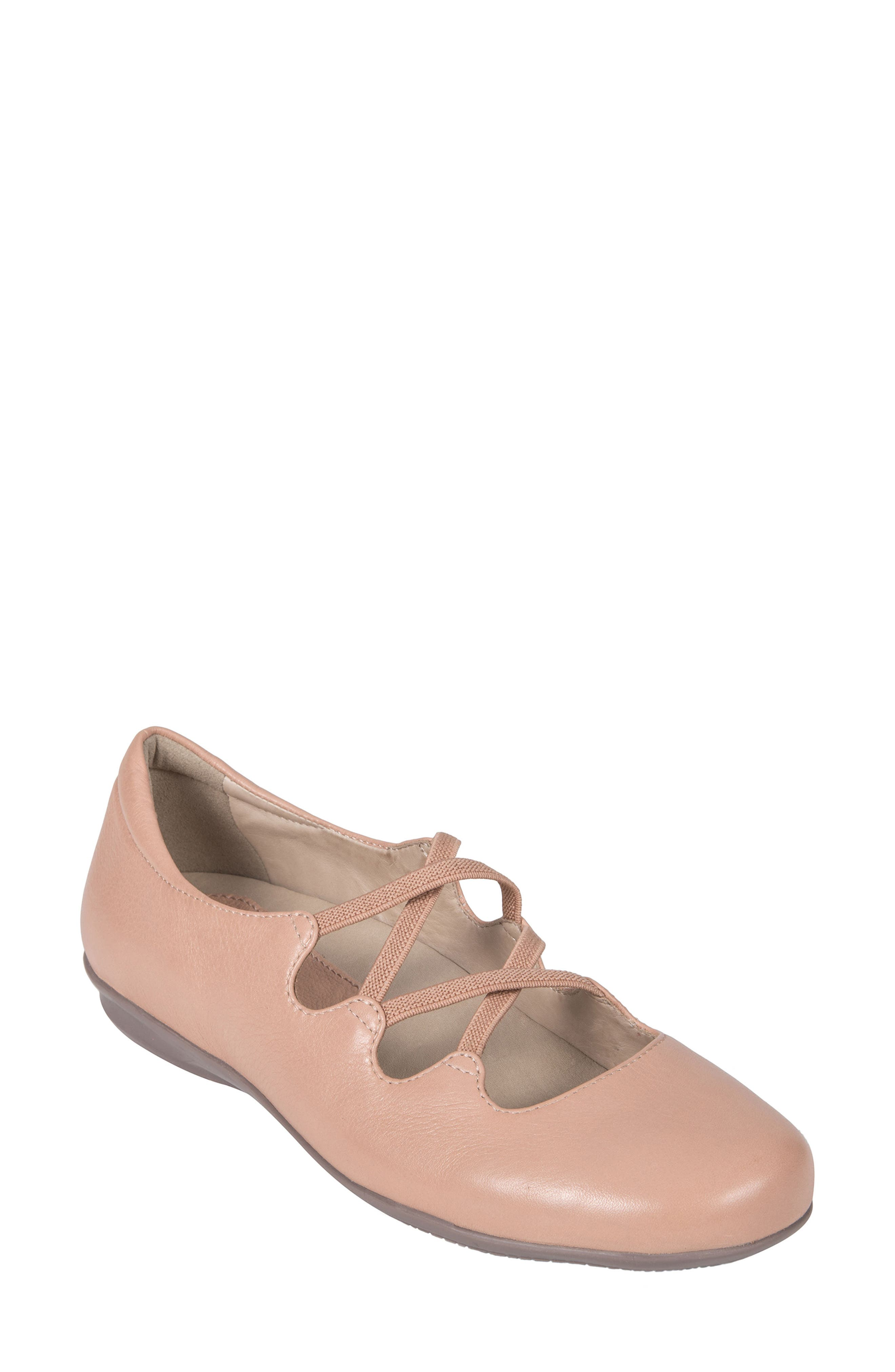 Clare Flat,                         Main,                         color, BLUSH LEATHER