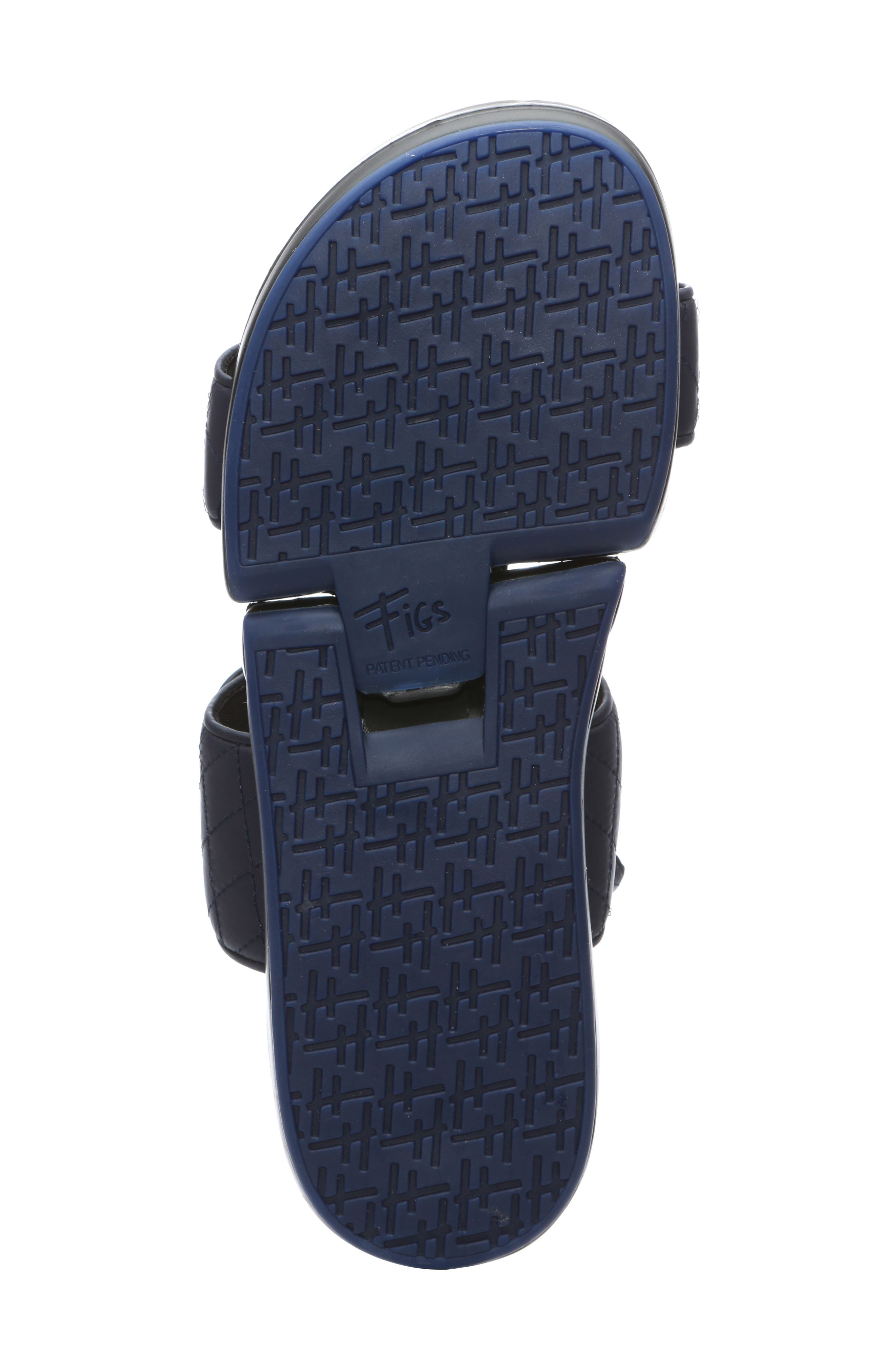 Figulous Quilted Sandal,                             Alternate thumbnail 6, color,                             NAVY FABRIC