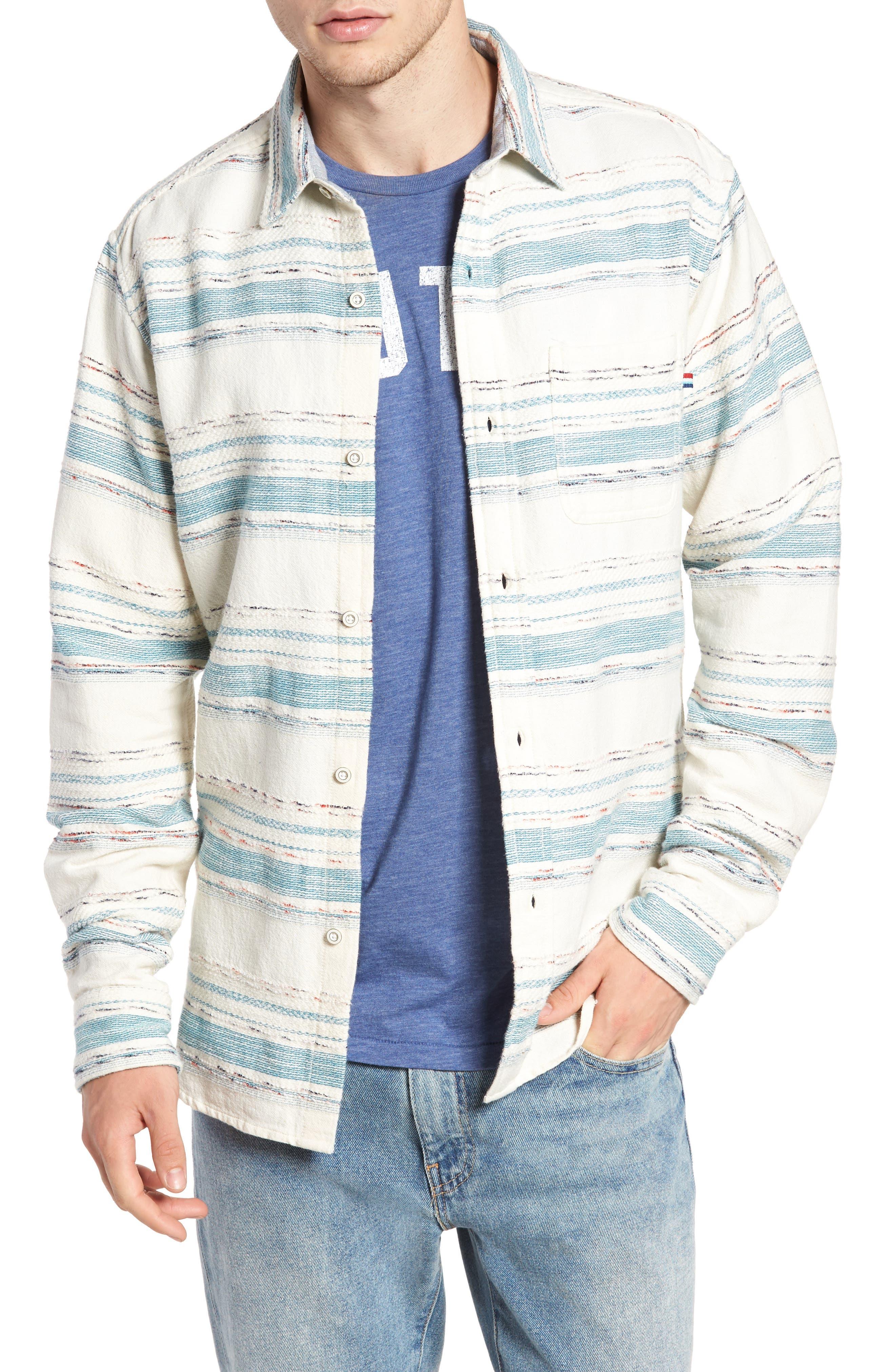 Sedona Stripe Woven Shirt,                         Main,                         color, 101