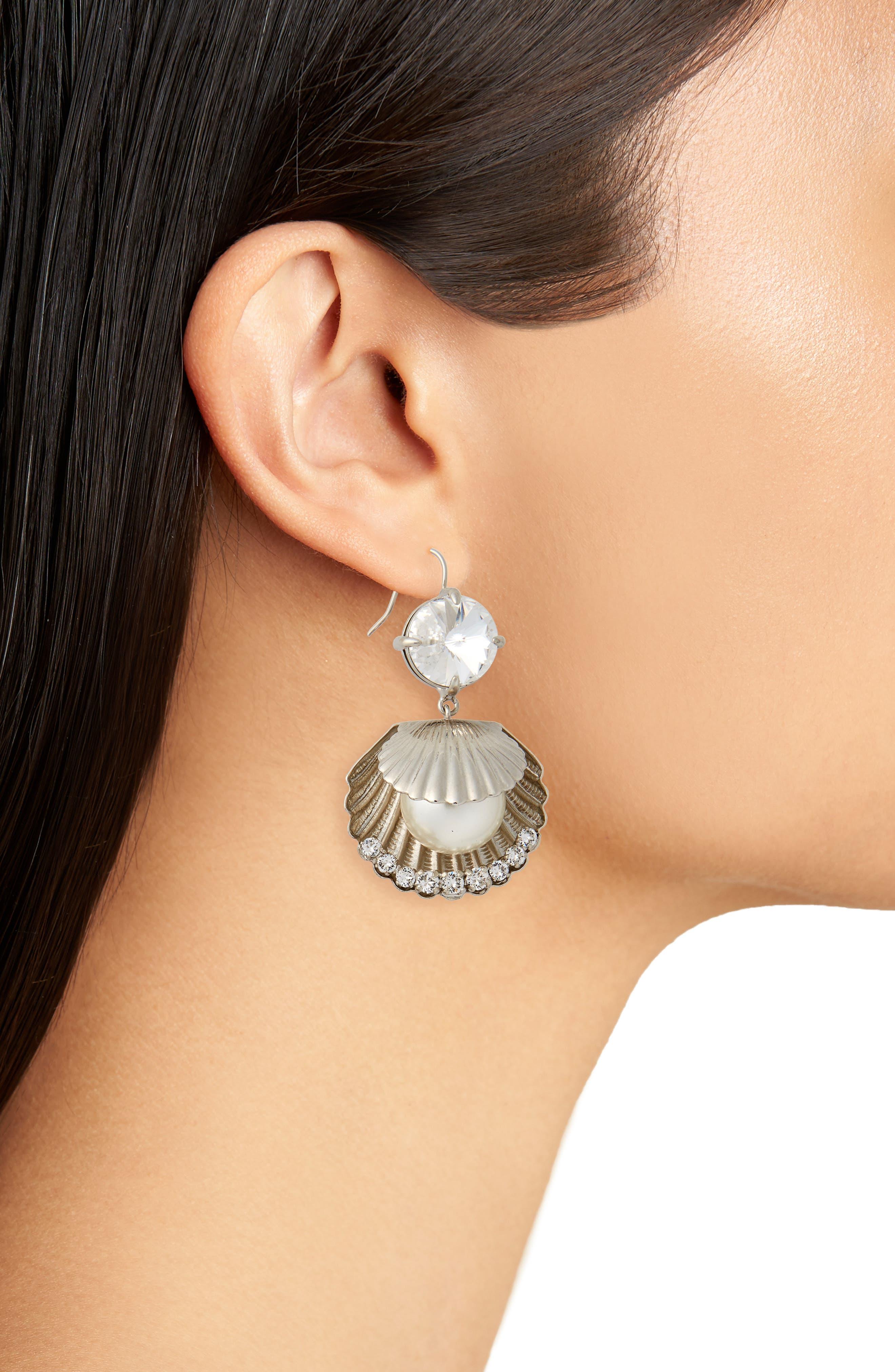 Shell Drop Earrings,                             Alternate thumbnail 2, color,                             904