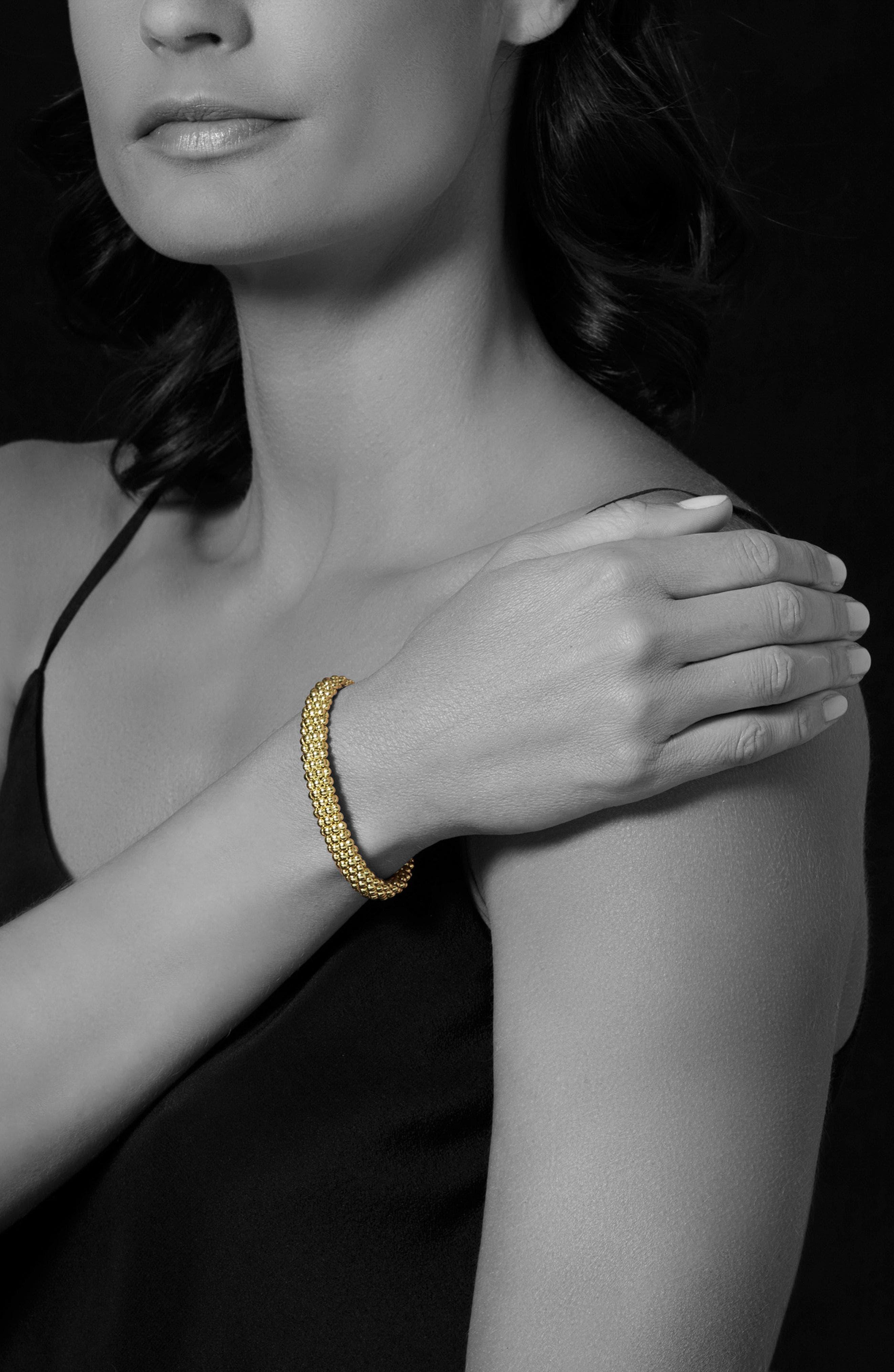 'Caviar Gold' Rope Bracelet,                             Alternate thumbnail 2, color,                             GOLD