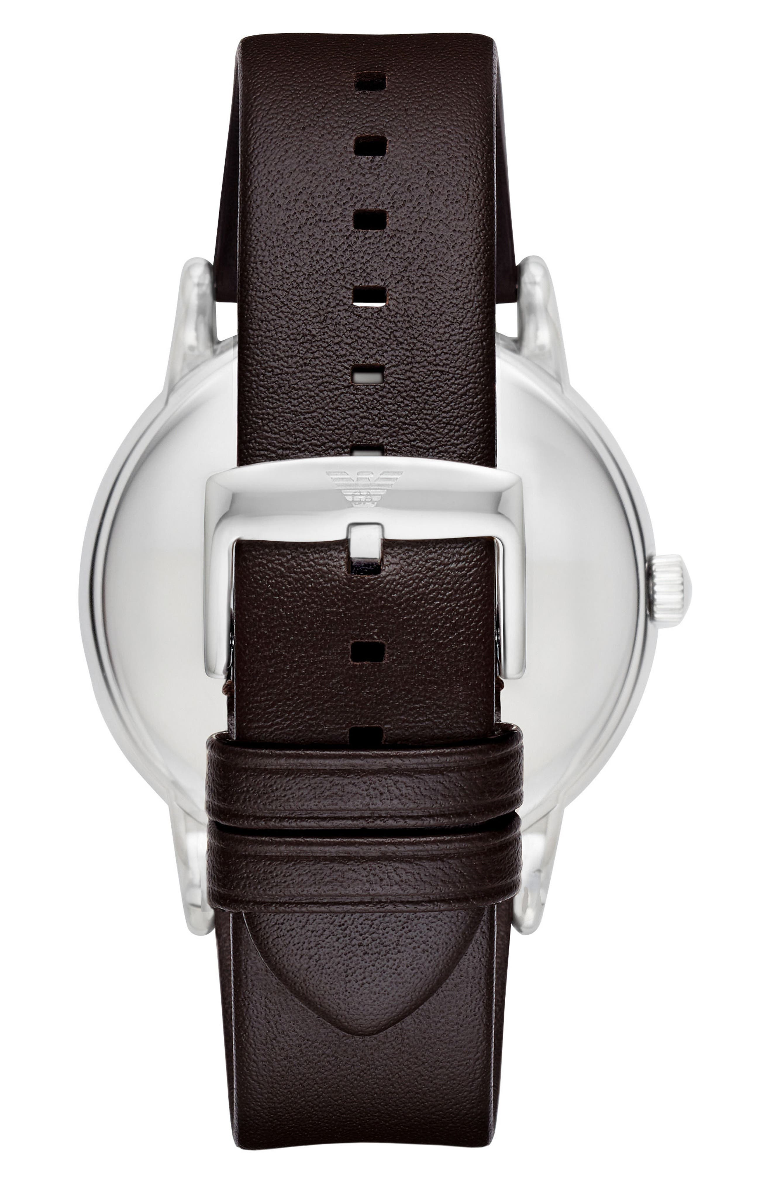 Leather Strap Watch Gift Set, 43mm,                             Alternate thumbnail 2, color,                             001