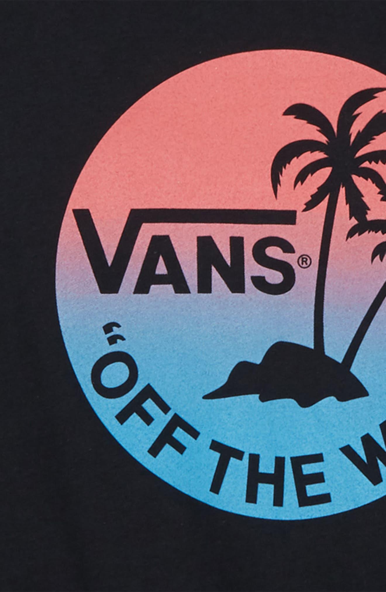 Dual Palm Gradient Graphic T-Shirt,                             Alternate thumbnail 4, color,
