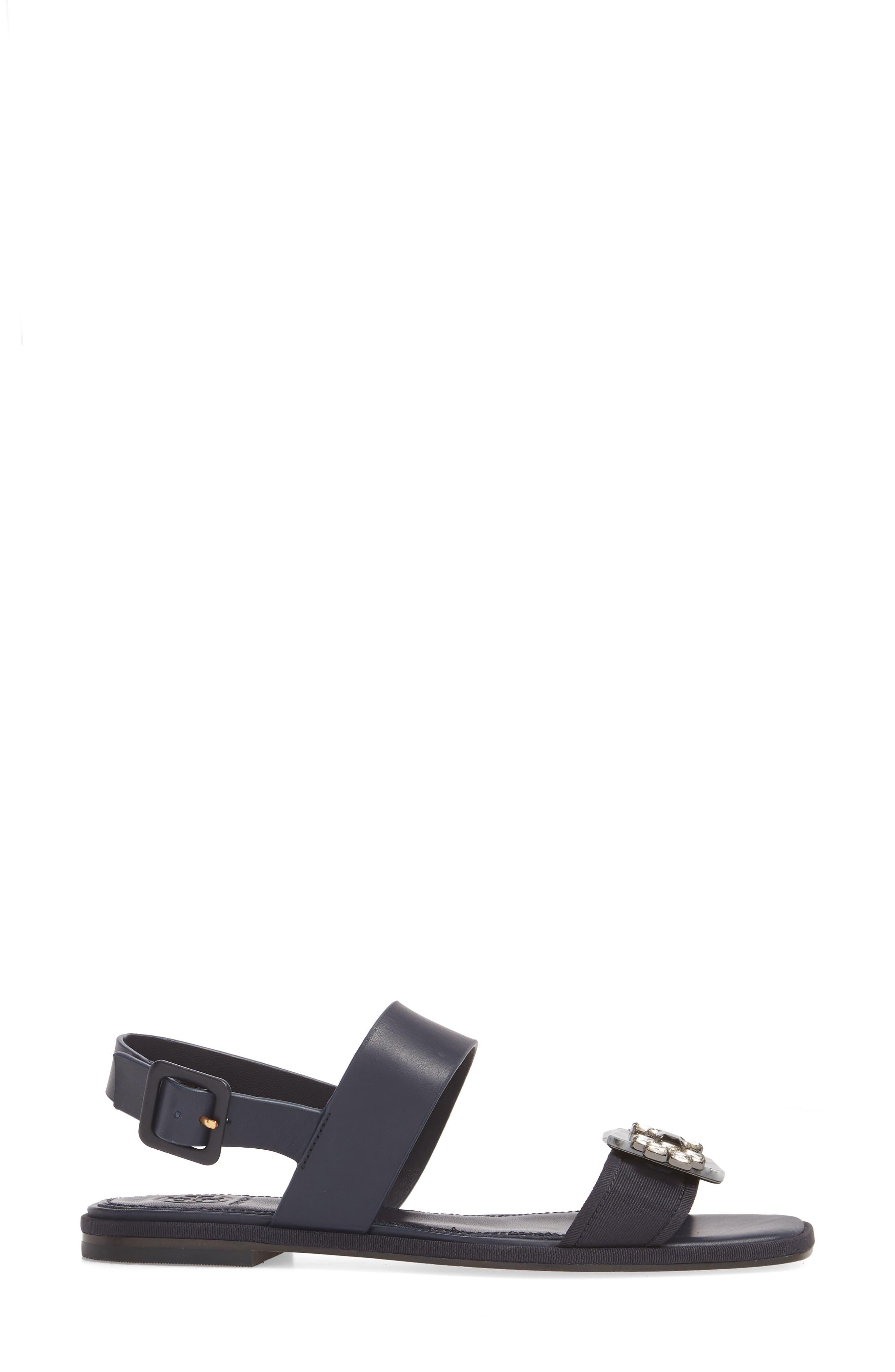 Delaney Embellished Double Strap Sandal,                             Alternate thumbnail 6, color,