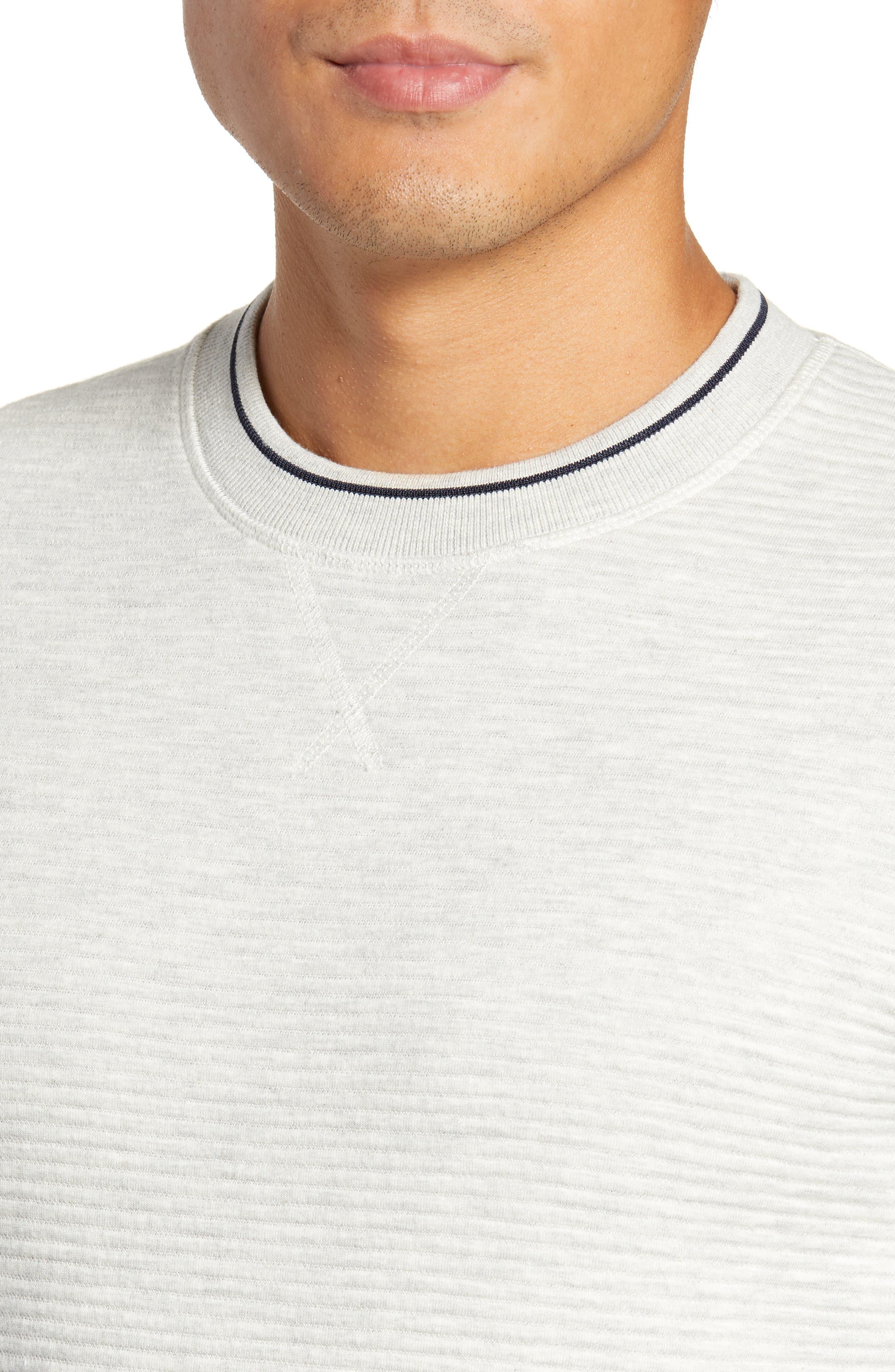 Magiics Slim Fit Quilted Sweatshirt,                             Alternate thumbnail 4, color,                             LIGHT GREY