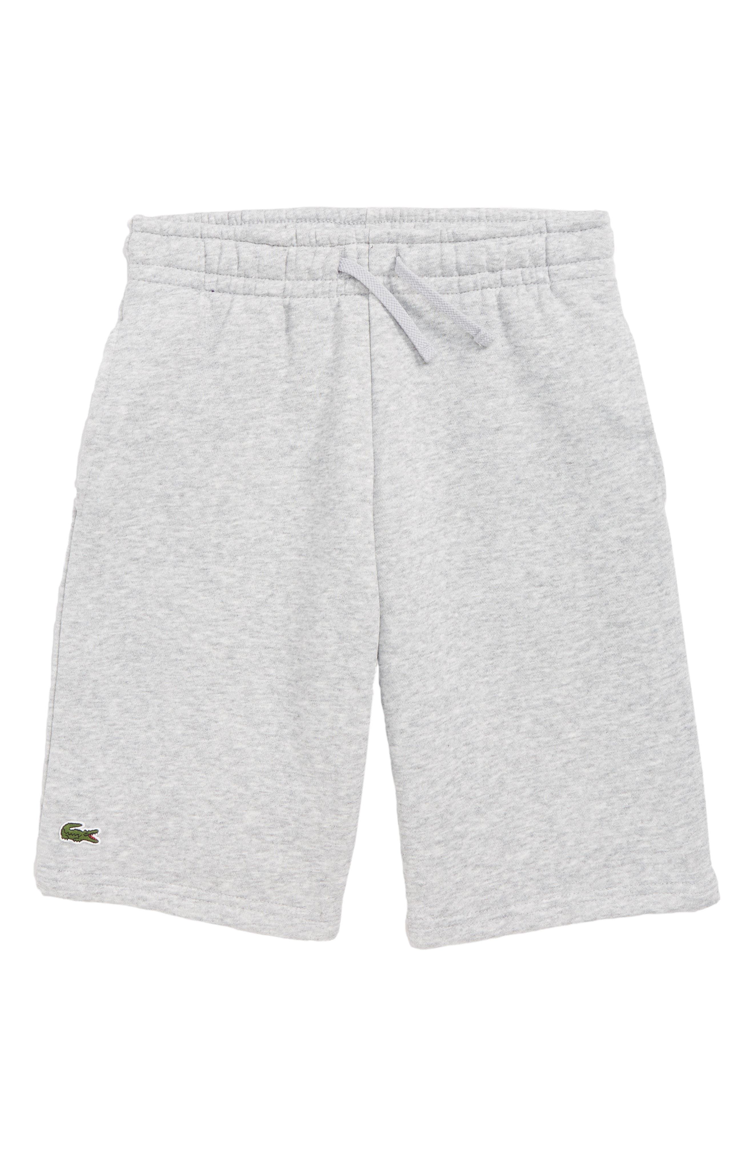 Fleece Shorts,                         Main,                         color, SILVER GREY